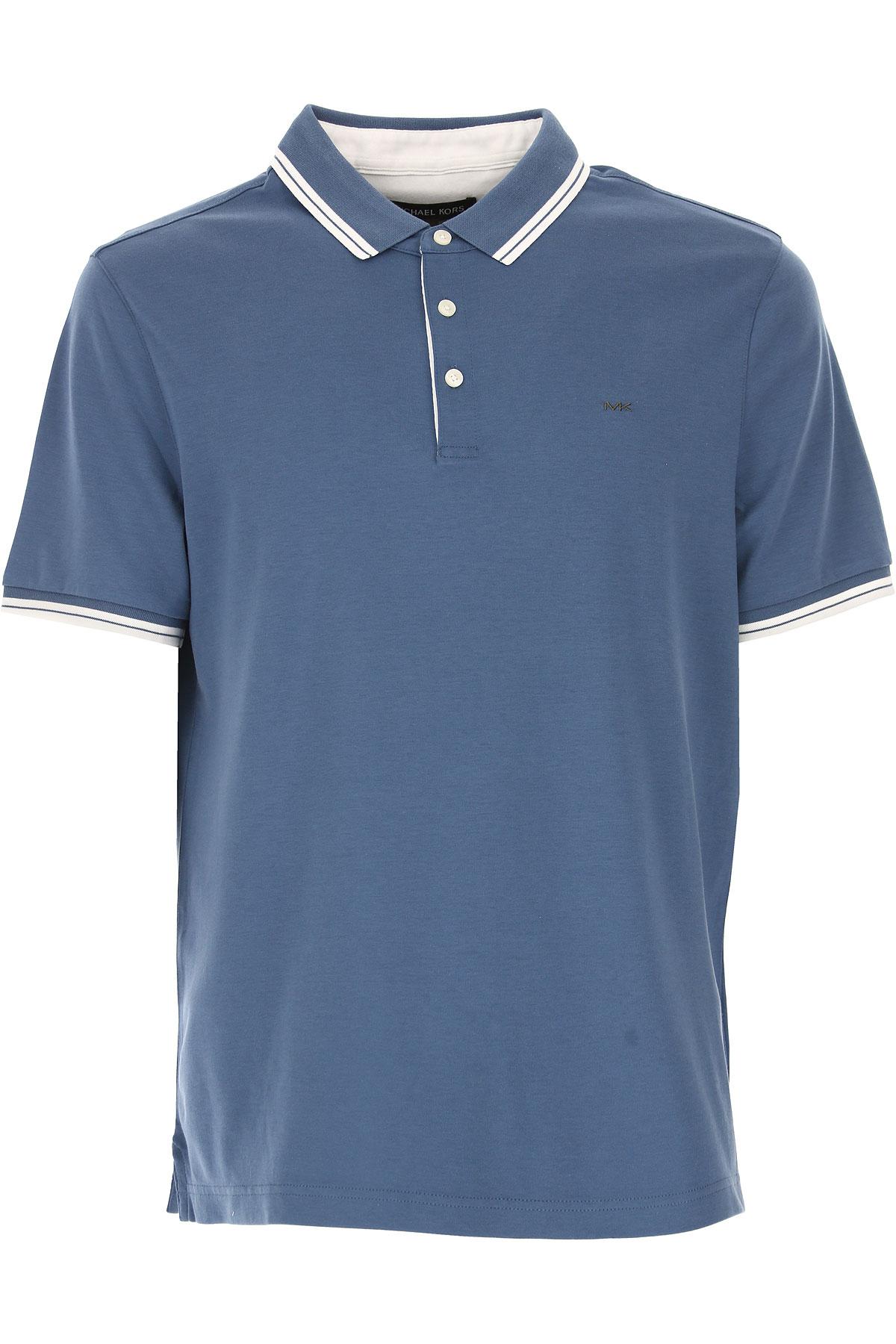 Michael Kors Polo Shirt for Men On Sale in Outlet, Bluette, Cotton, 2019, M S