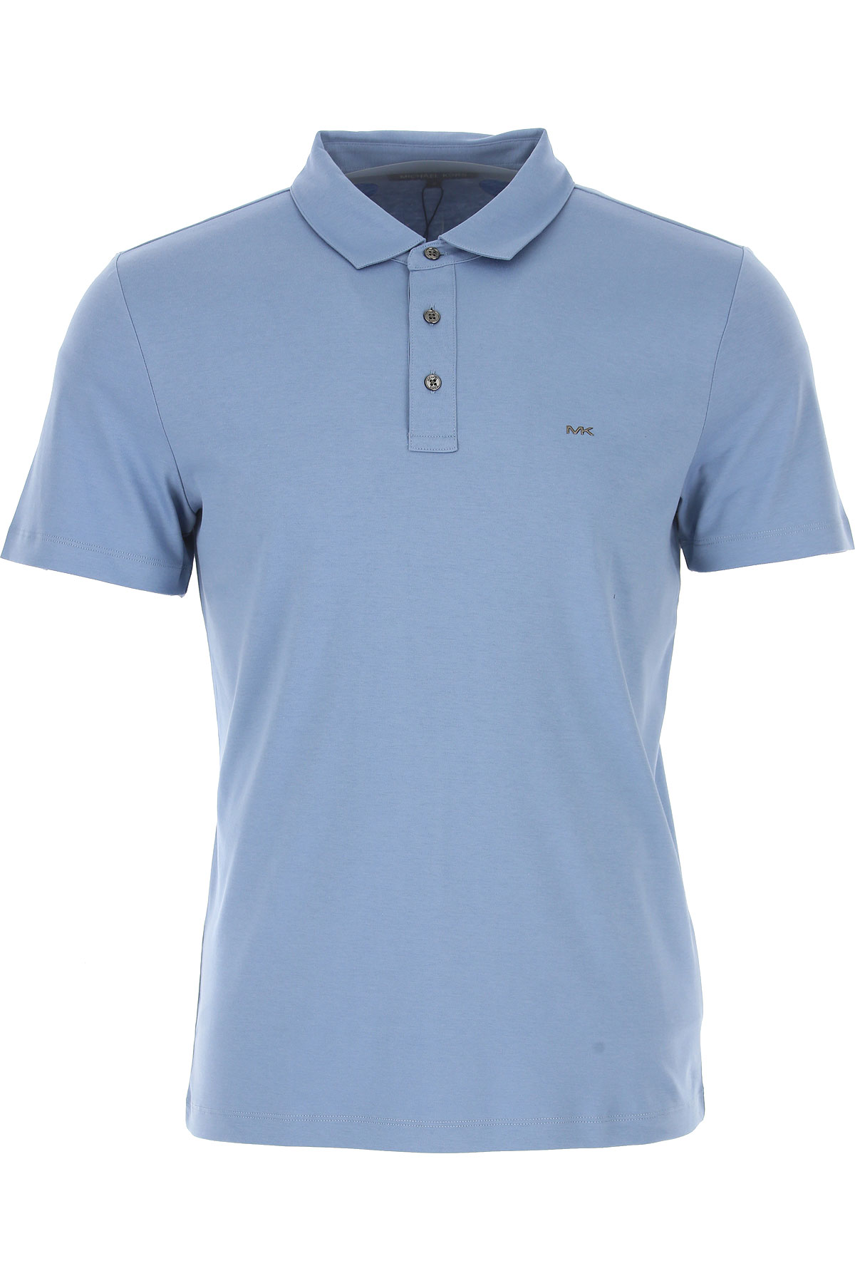 Michael Kors Polo Shirt for Men On Sale in Outlet, Blue Grey, Cotton, 2019, M S