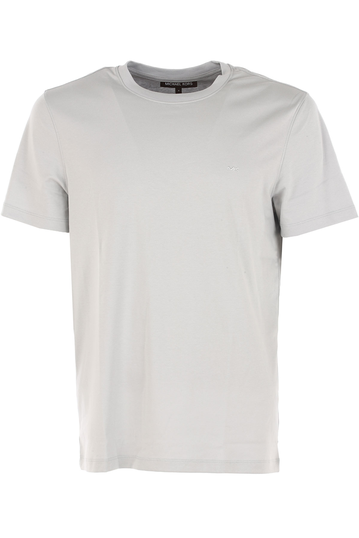 Michael Kors T-Shirt for Men On Sale in Outlet, Ice Grey, Cotton, 2017, L S XL