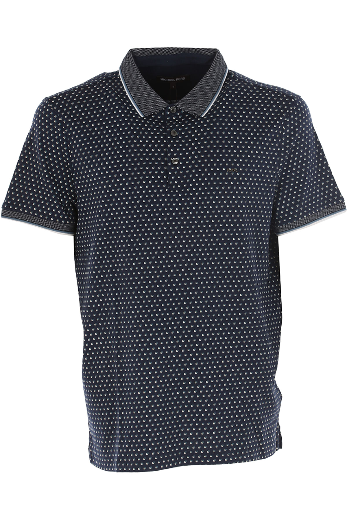 Michael Kors Polo Shirt for Men On Sale in Outlet, Navy Blue, Cotton, 2017, L M S