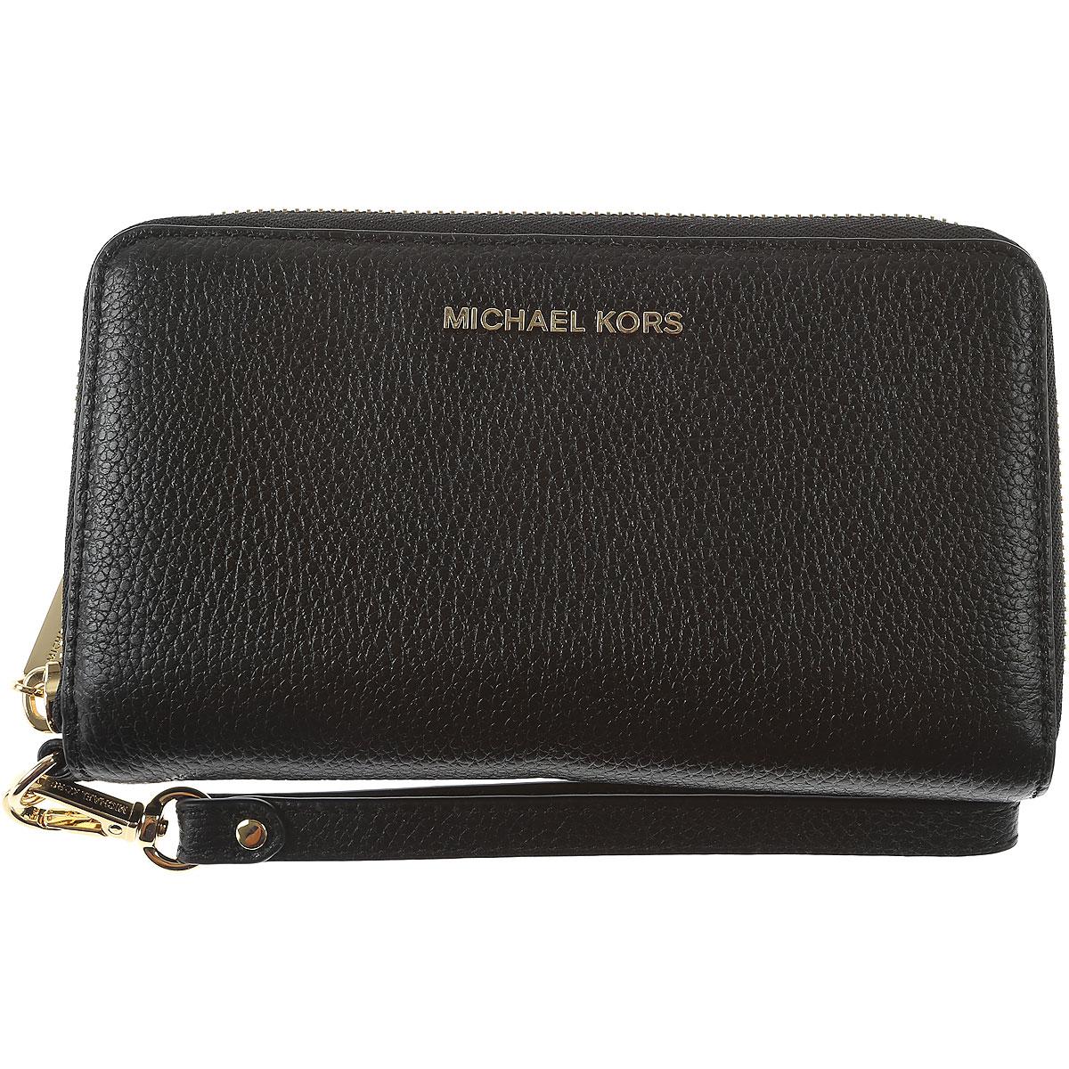 826928b5922b Michael Kors Wallet for Women On Sale, Black, Leather, 2019