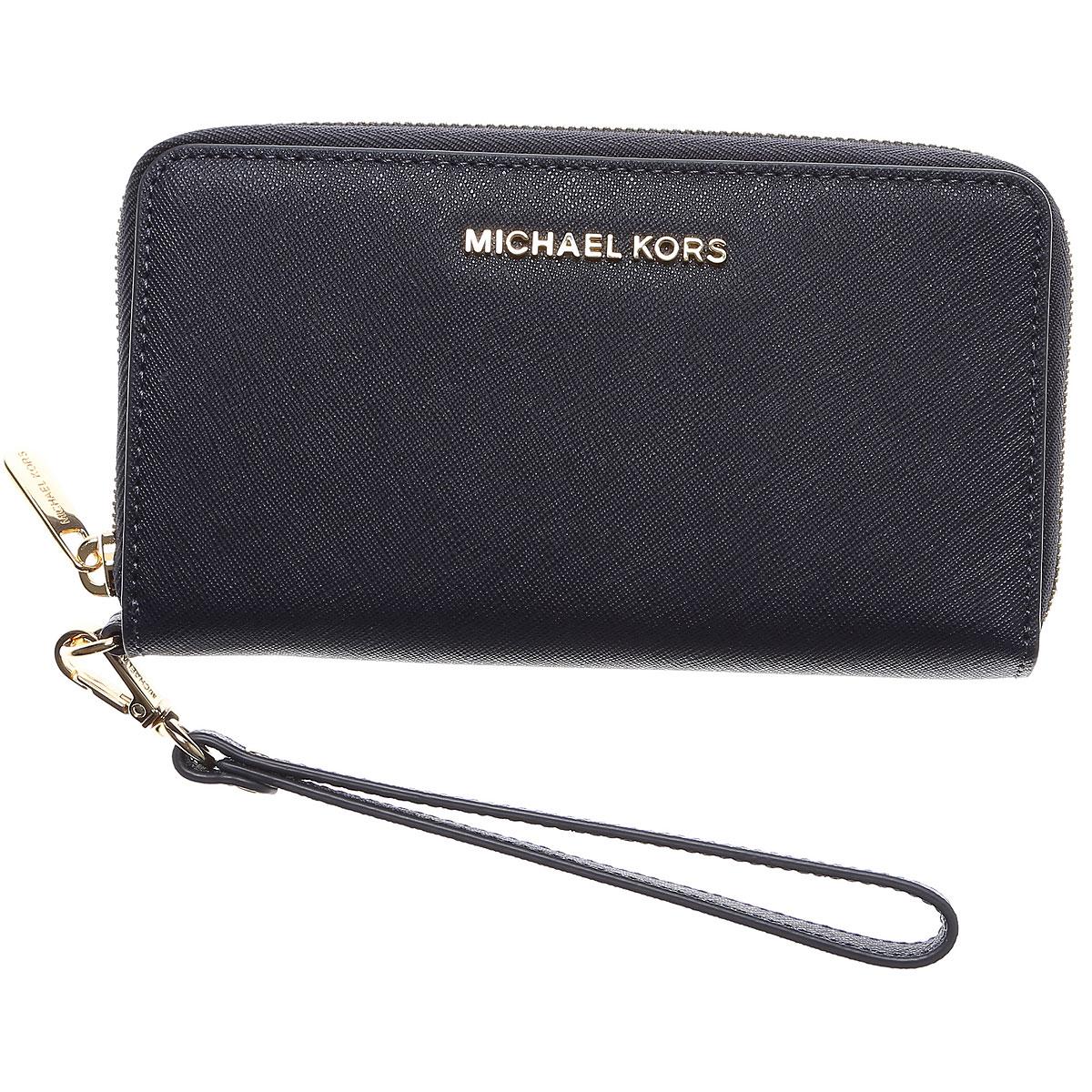 Michael Kors Wallet for Women In Saldo, Blu Ammiraglio, pelle, 2019