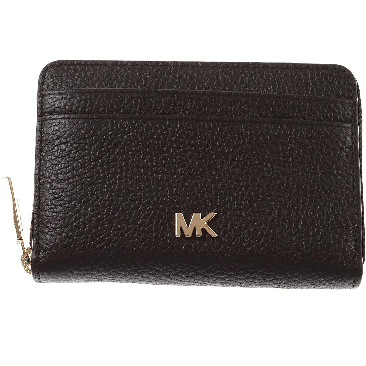 Michael Kors Wallet for Women, Nero, pelle, 2019