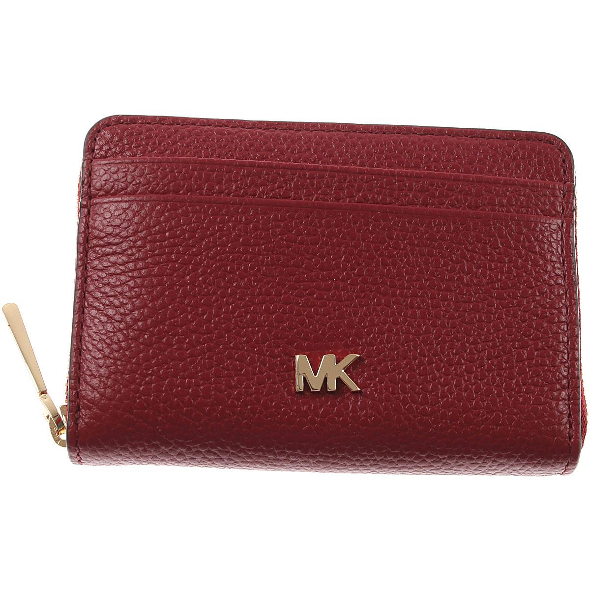Michael Kors Wallet for Women, Maroon, pelle, 2019