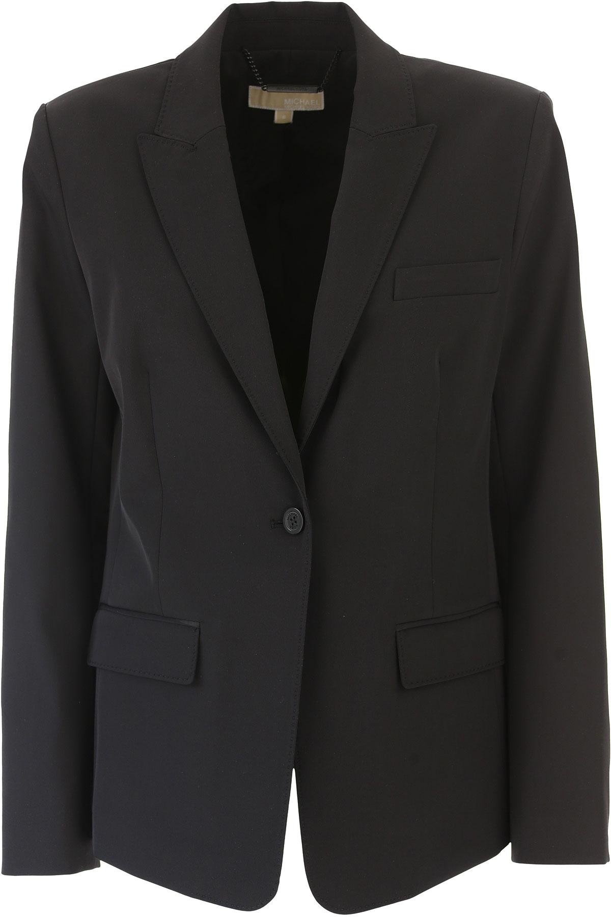 Michael Kors Blazer for Women On Sale in Outlet, Black, Cotton, 2019, IT 44 - US 6 - F 40 IT 46 - US 8 - F 42