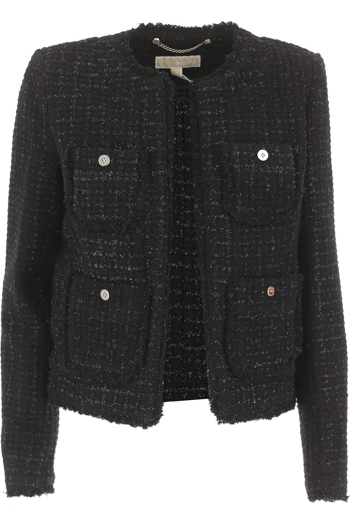 Michael Kors Jacket for Women On Sale, Black, Wool, 2019, 12 14 8