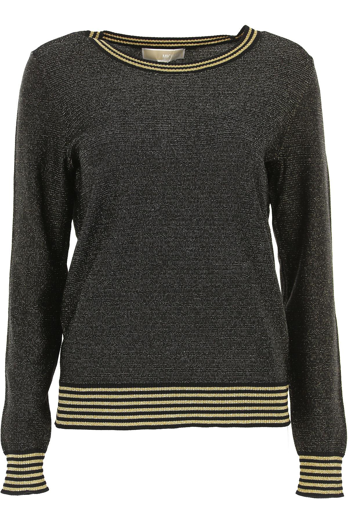 Michael Kors Sweater for Women Jumper, Black, Viscose, 2019, 10 12 6 8