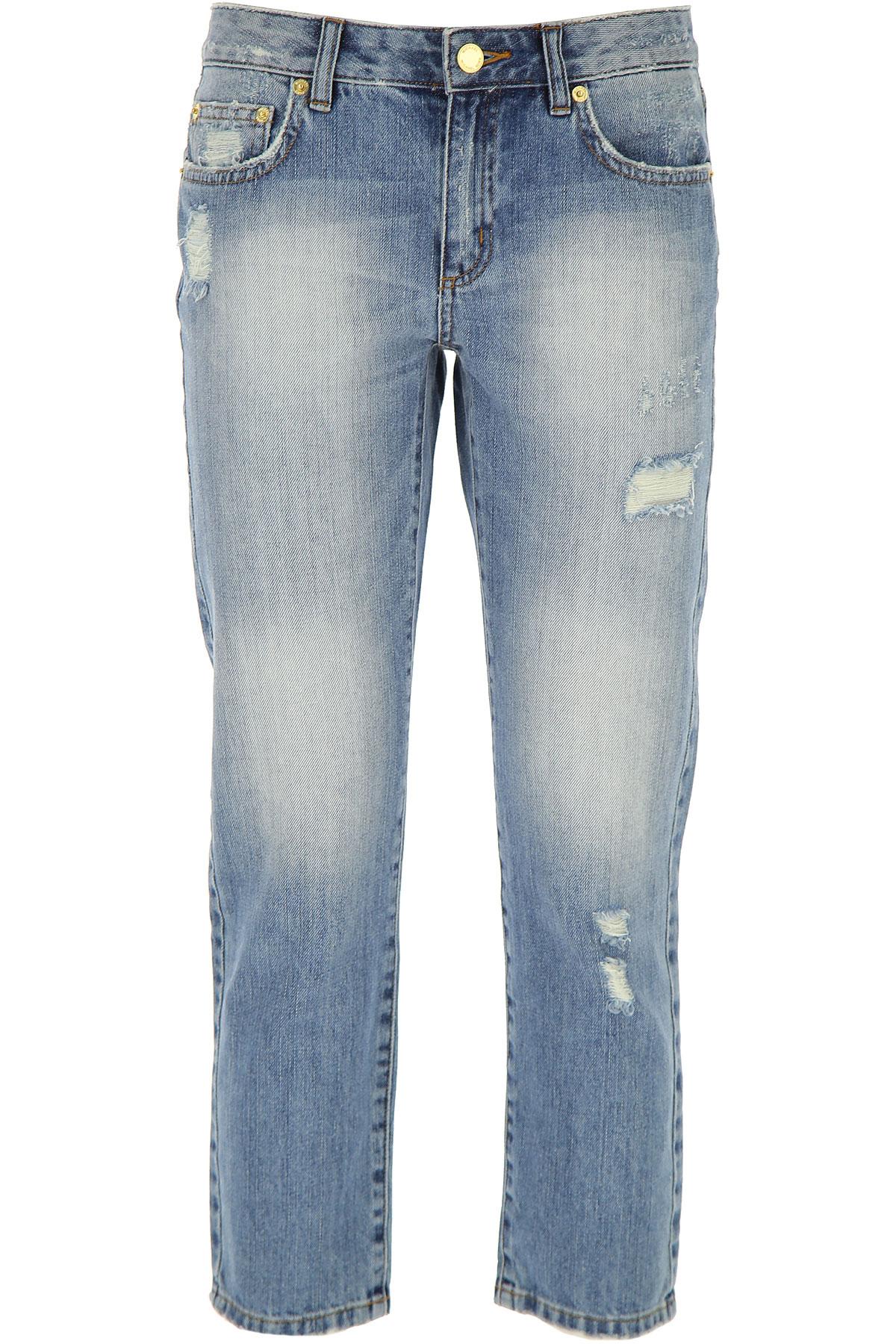 MICHAEL KORS Michael Kors Jeans, Bluejeans, Denim Jeans für Damen Günstig im Outlet Sale, Helles Indigo., Baumwolle, 2017, 38 44