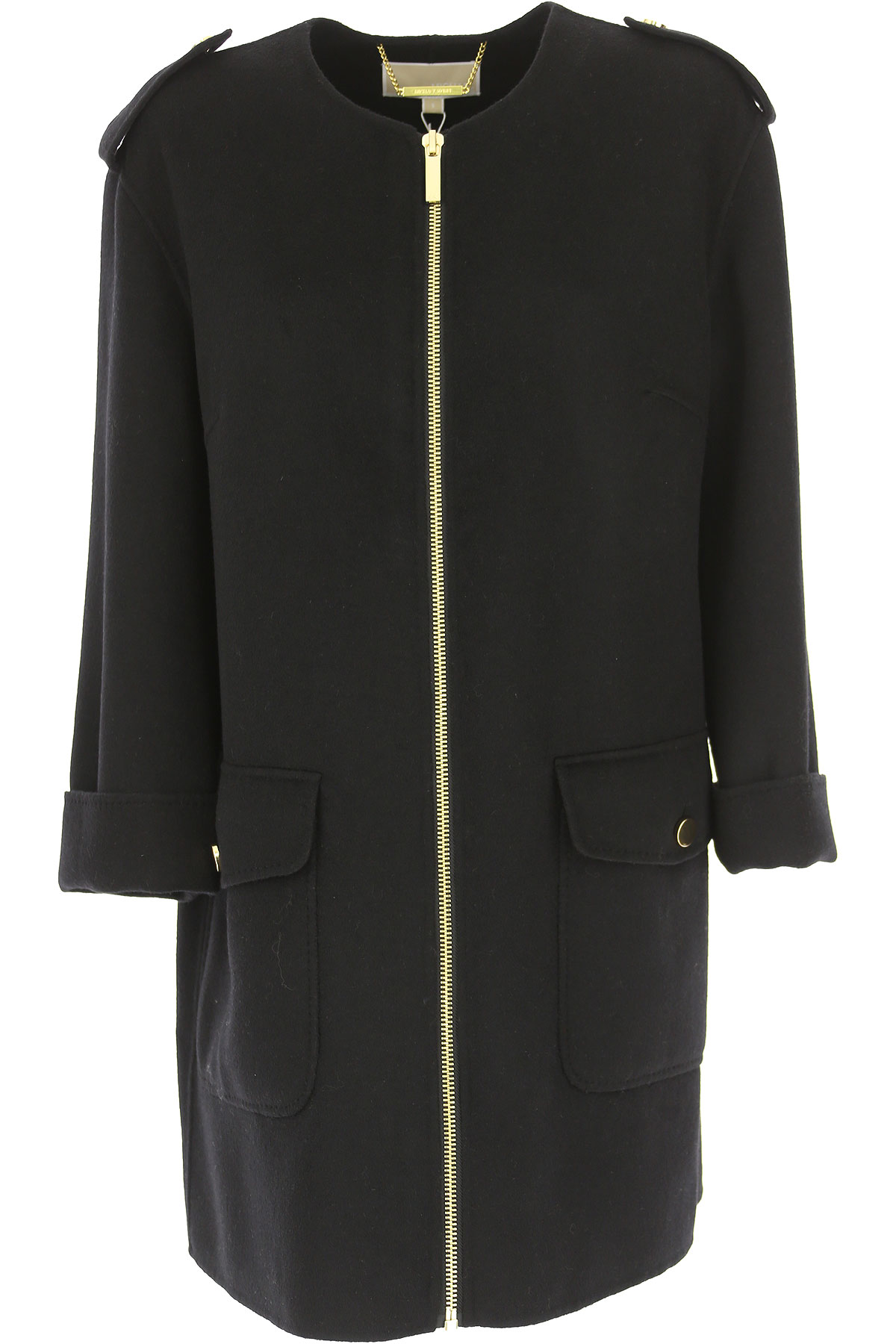 Michael Kors Women\s Coat, Black, Wool, 2019, 10 12 14 6 8