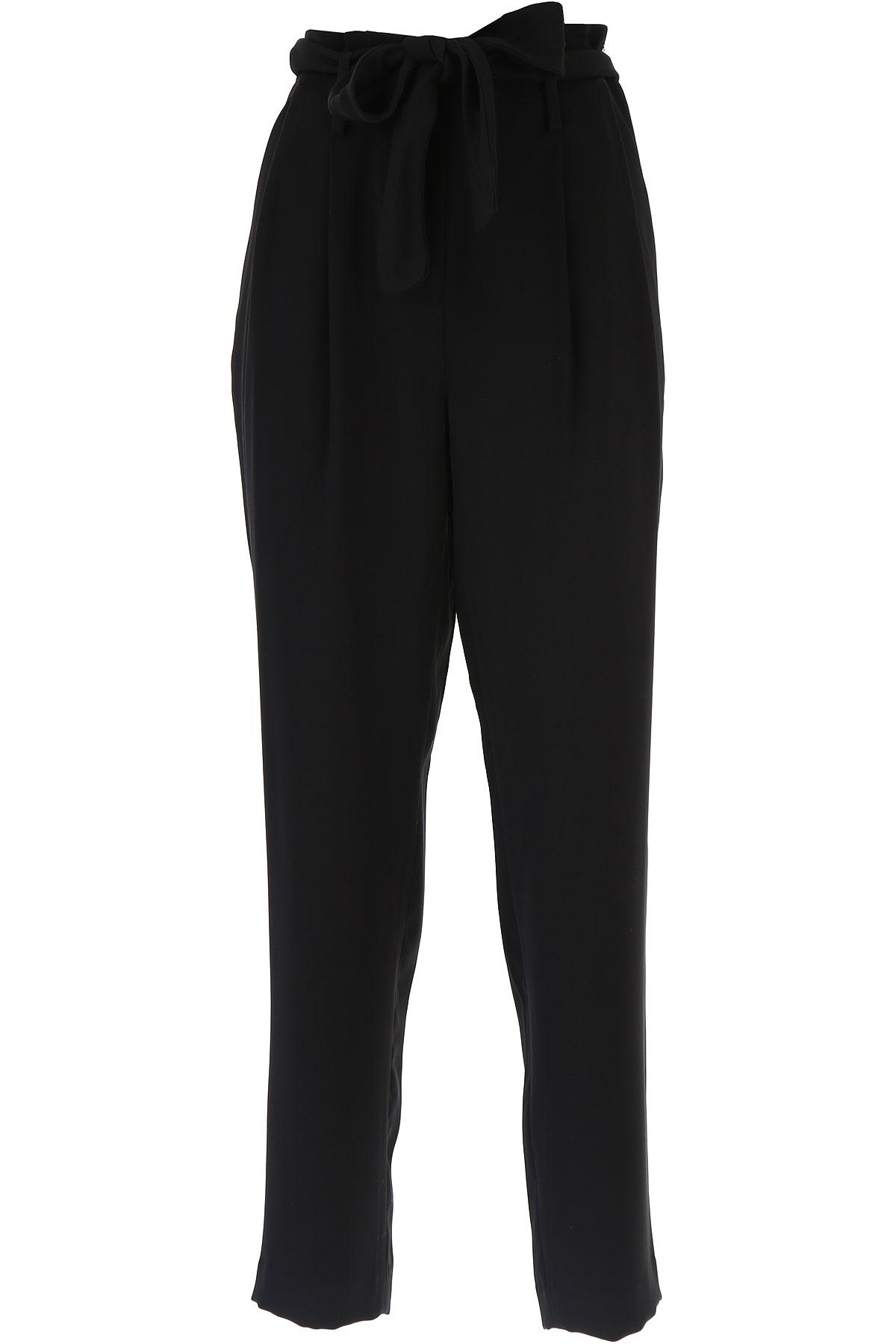Michael Kors Pantaloni Donna In Saldo, Nero, polyester, 2019, 38 40 42 46
