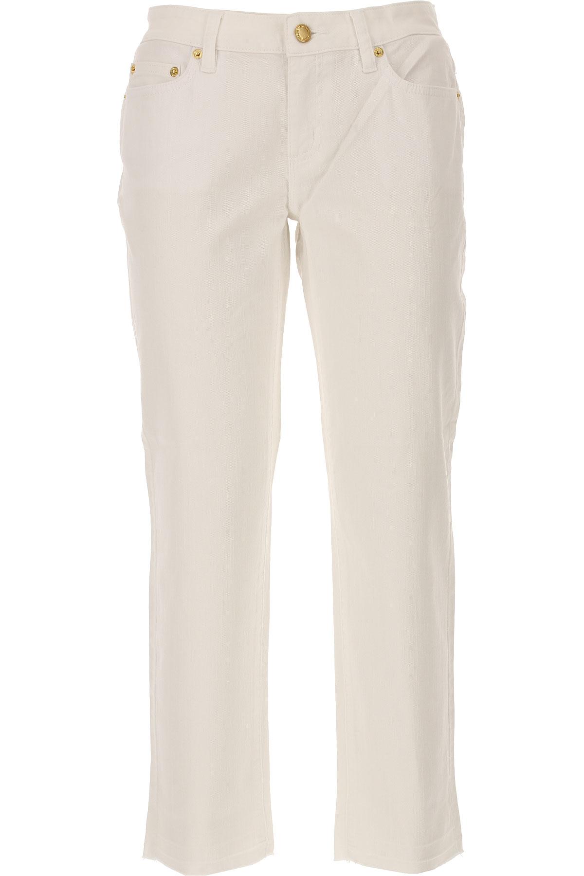 Michael Kors Jeans On Sale, White, Cotton, 2017, IT 38 - US 0 - F 34 IT 40 - US 2 - F 36 IT 42 - US 4 - F 38 IT 44 - US 6 - F 40 USA-445843