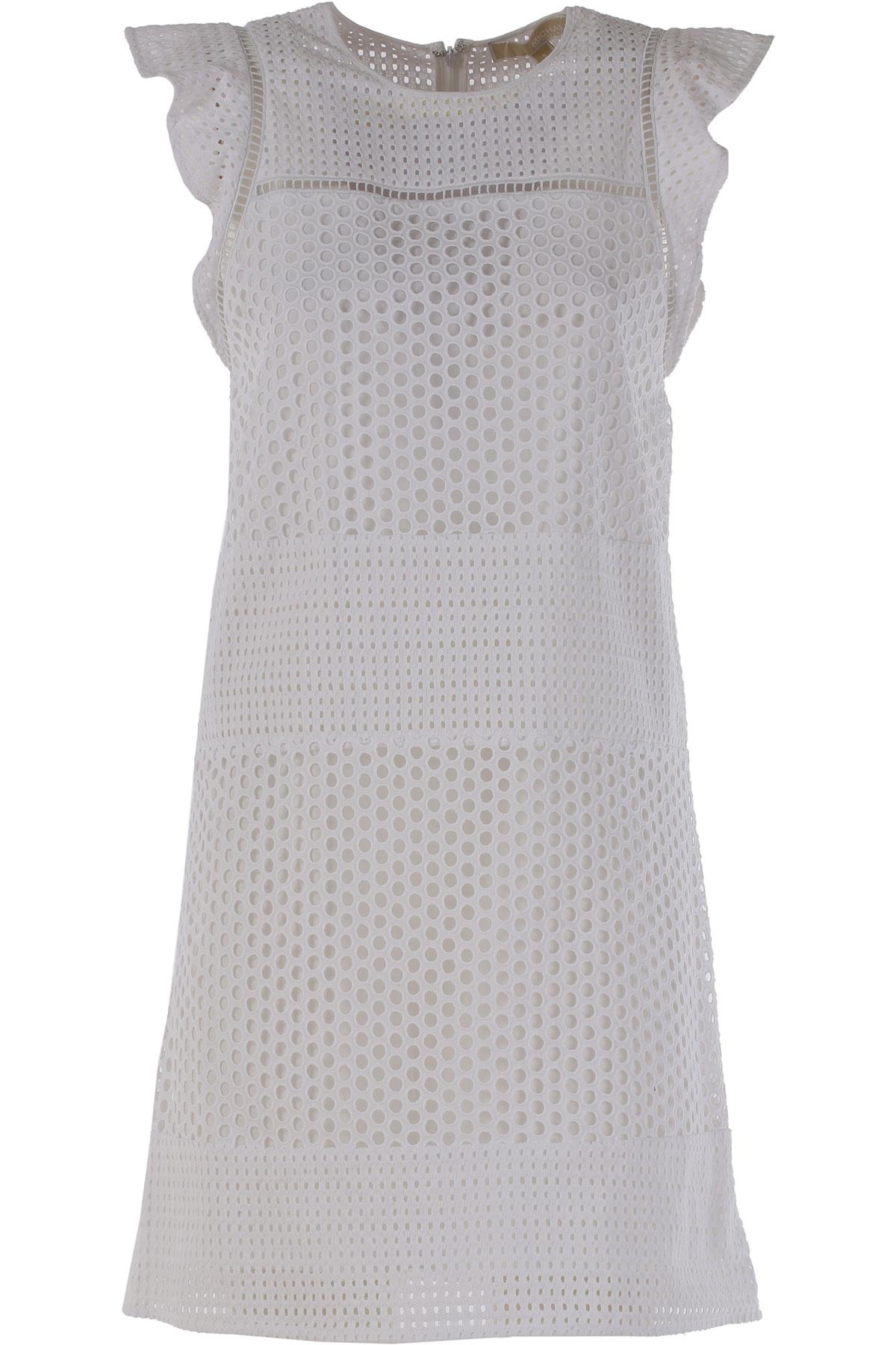 Michael Kors Kleid für Damen Günstig im Outlet Sale, Weiss, Baumwolle, 2017, 38 40