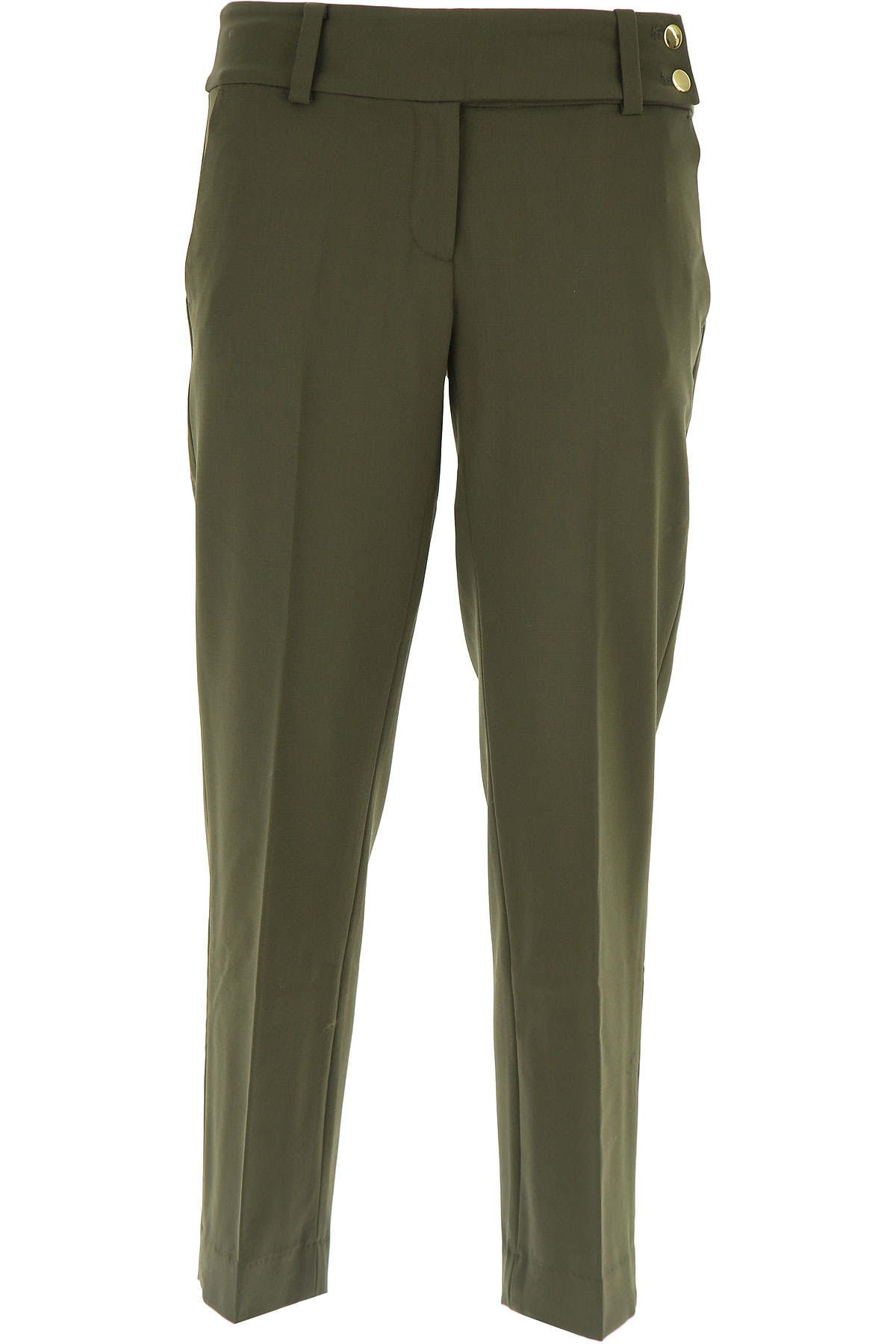 Michael Kors Pants for Women On Sale in Outlet, Green, Wool, 2019, 24 32