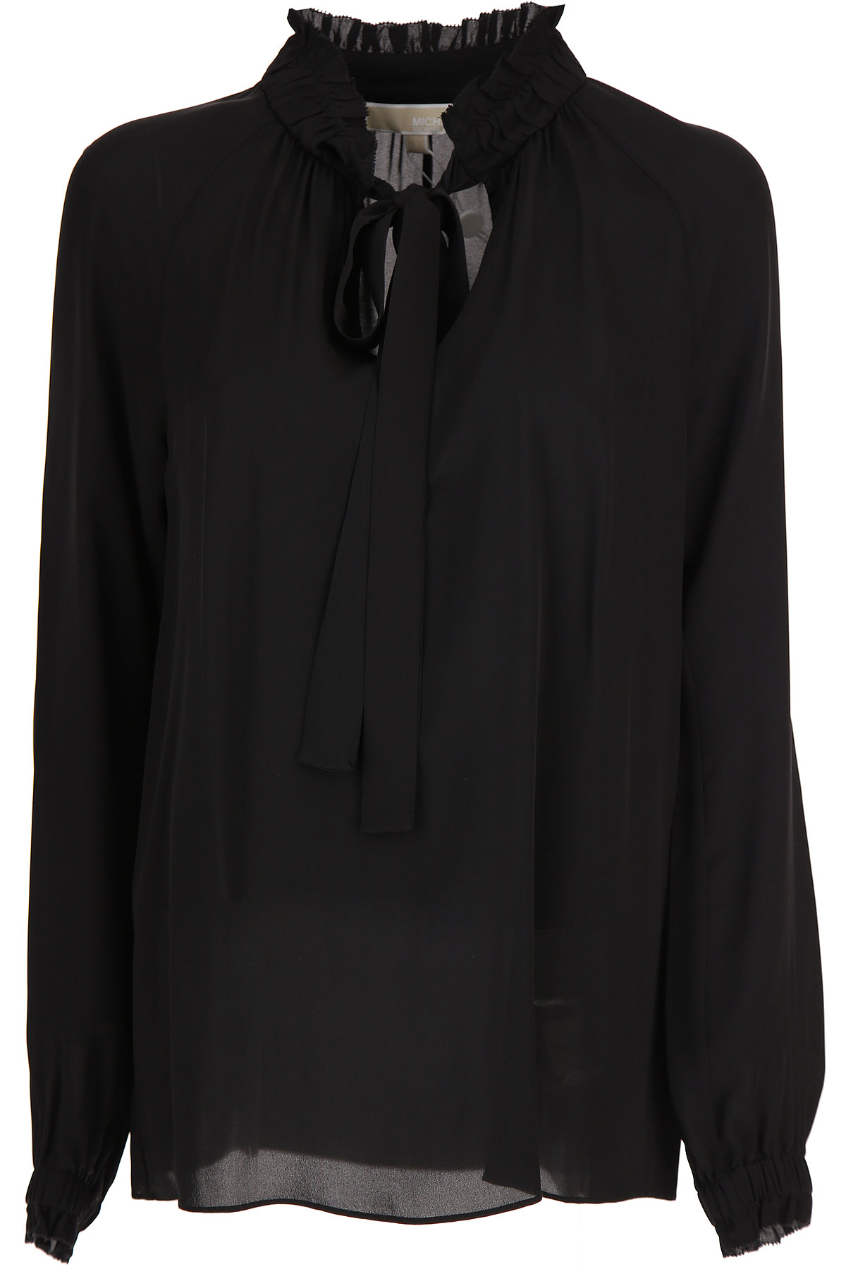 Michael Kors Top for Women On Sale, Black, Silk, 2017, 10 6 8
