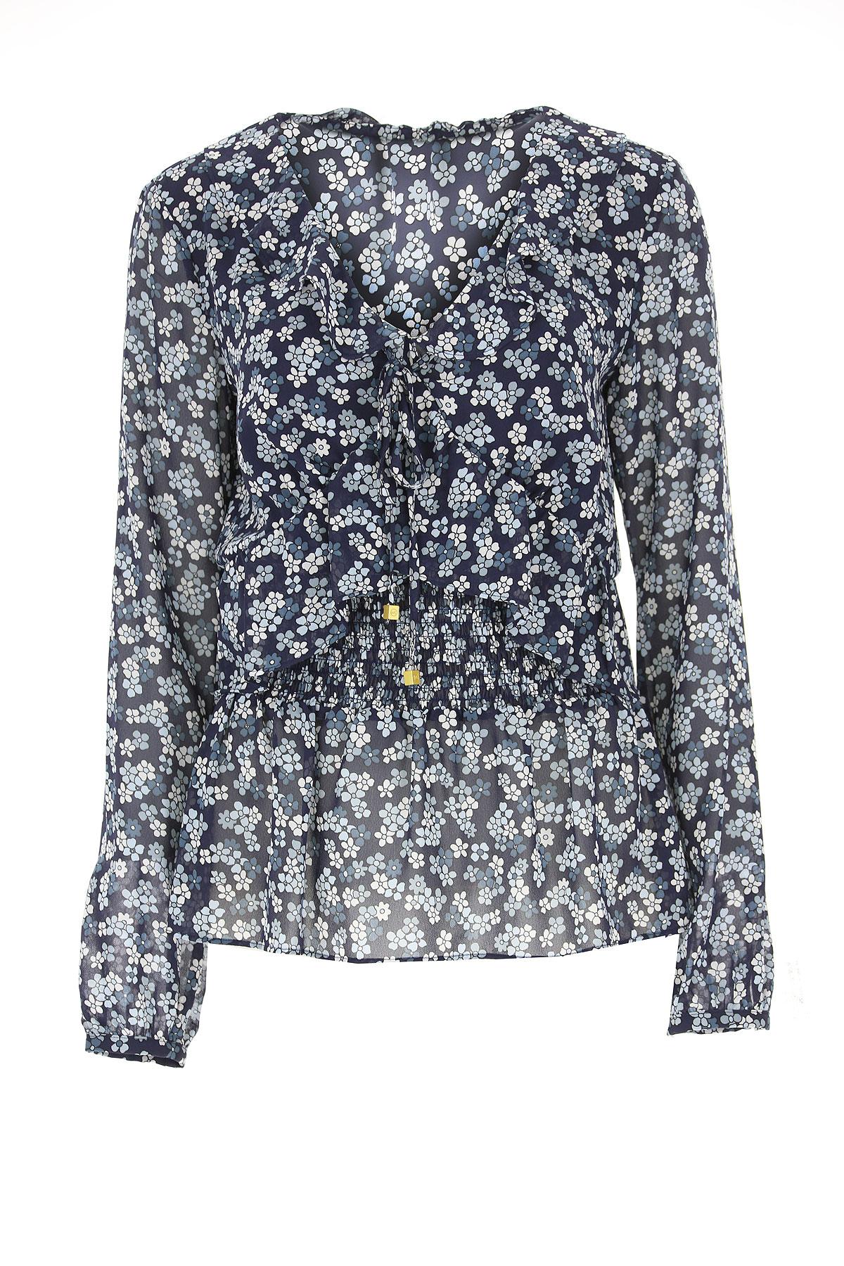 Michael Kors Shirt for Women, Blue, polyester, 2019, 10 12 8