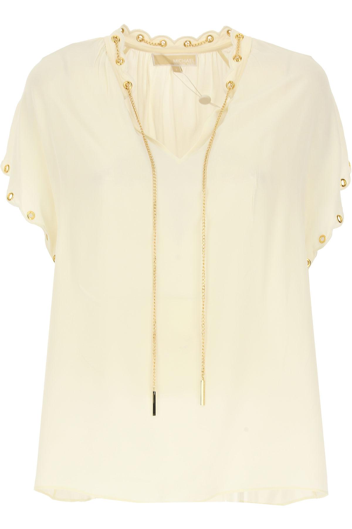 Michael Kors T-Shirt voor Dames In Aanbieding, Boon, Zijde, 2019, 38 40 44 M