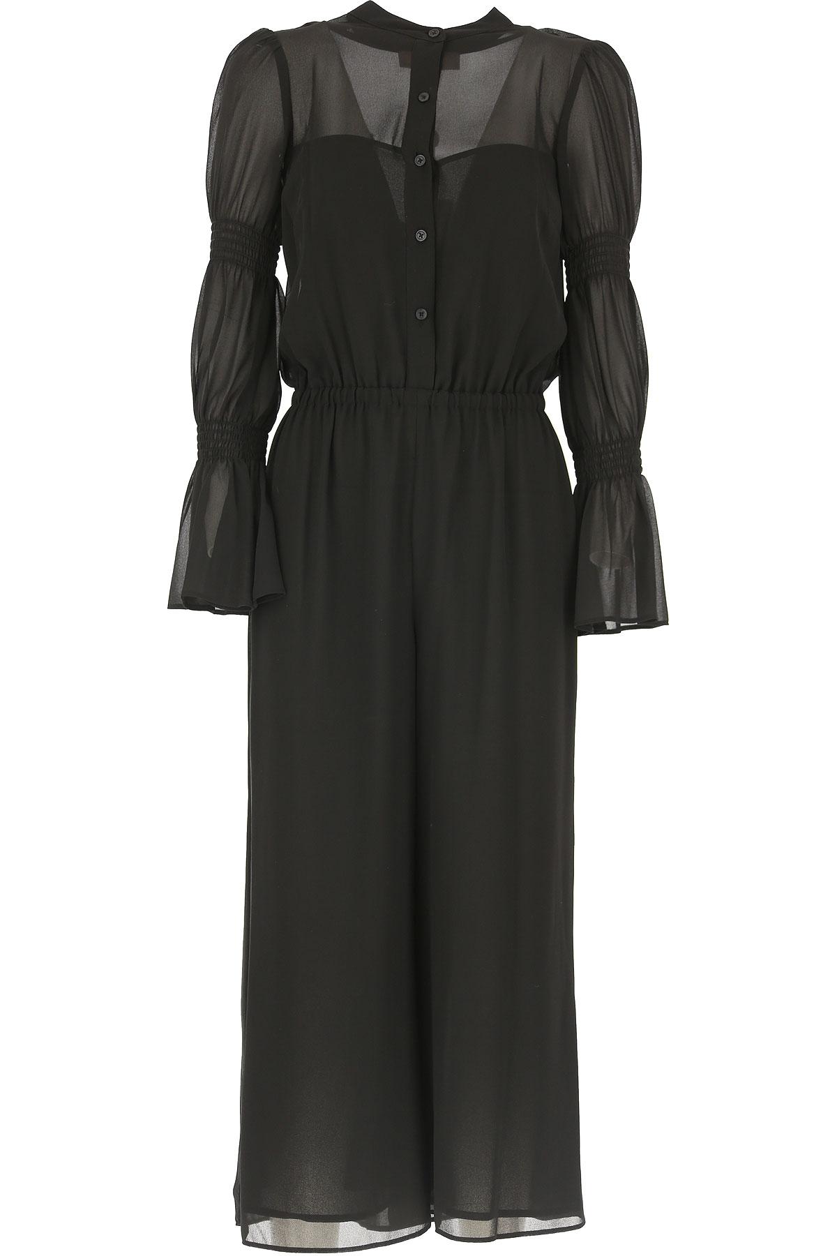 Michael Kors Abito Donna Vestito elegante, Nero, polyester, 2019, 40 42 44