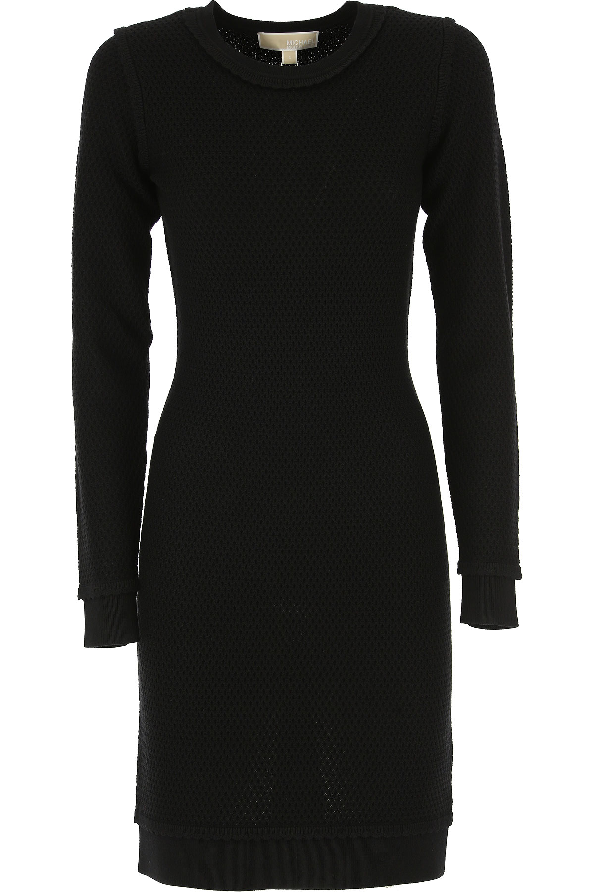 Michael Kors Dress for Women, Evening Cocktail Party On Sale, Black, Merinos Wool, 2017, 2 6
