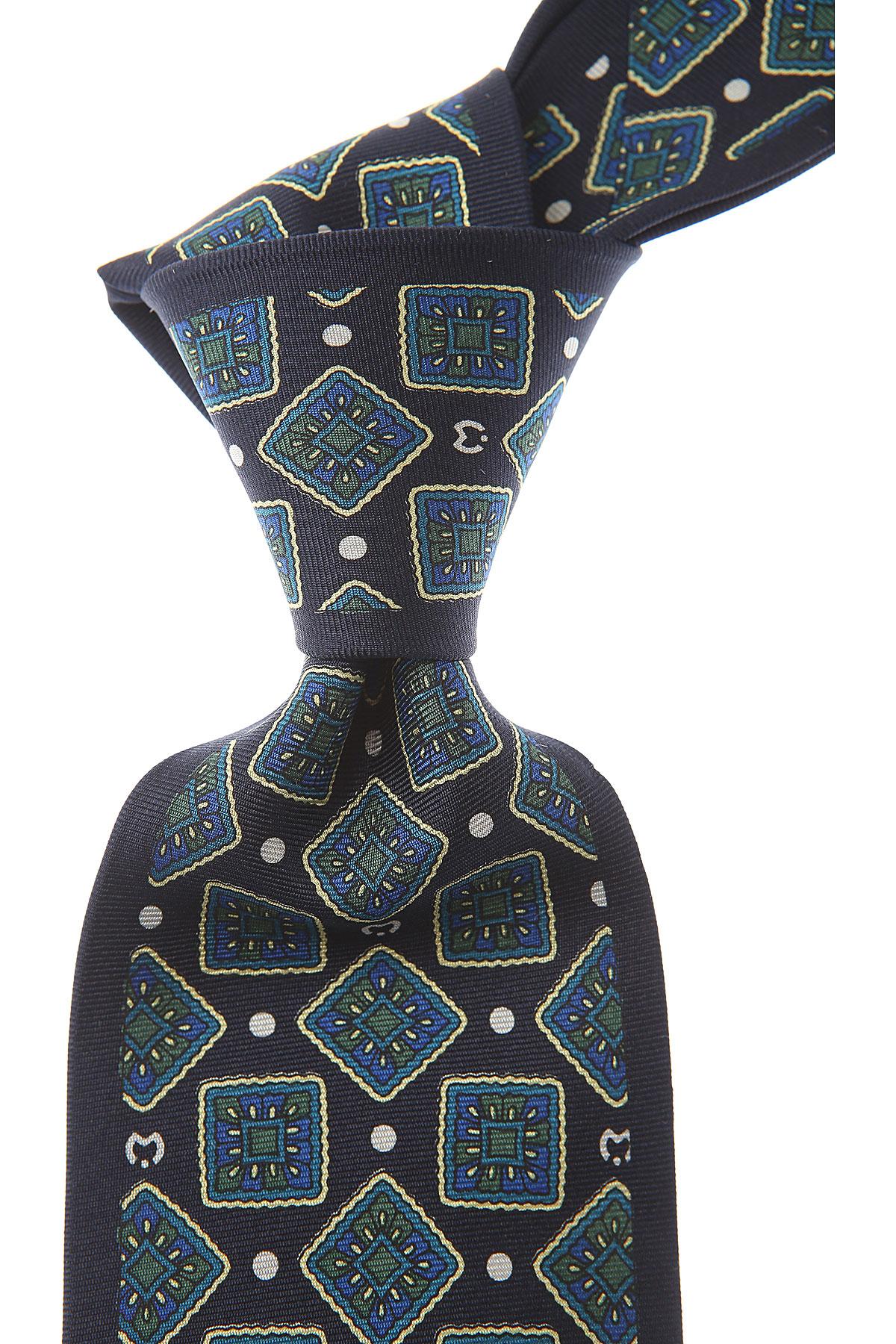 Mila Schön Cravates Pas cher en Soldes, Bleu nuit, Soie, 2019