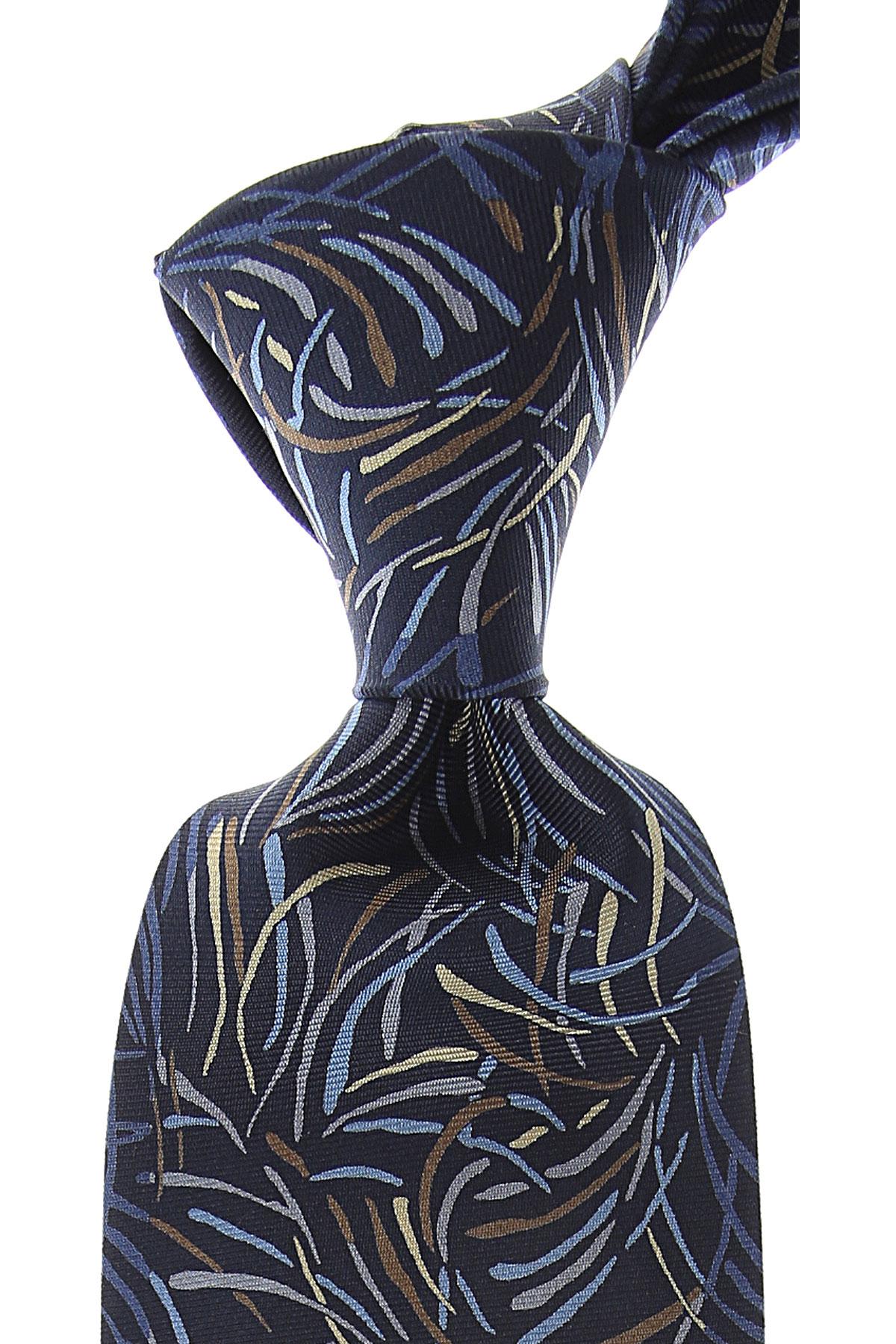 Mila Schon Ties On Sale, Dark Blue Navy, Silk, 2019