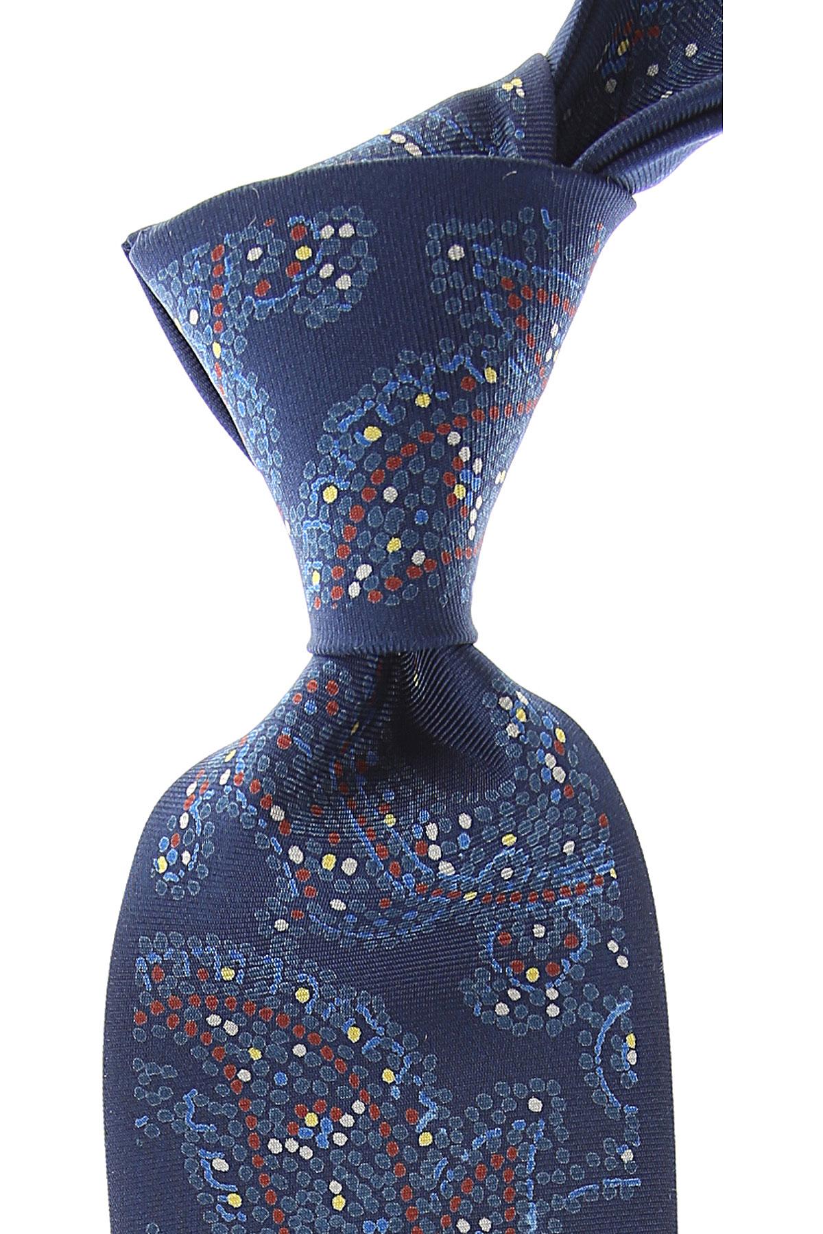 Mila Schön Cravates Pas cher en Soldes, Bleu moyen, Soie, 2019