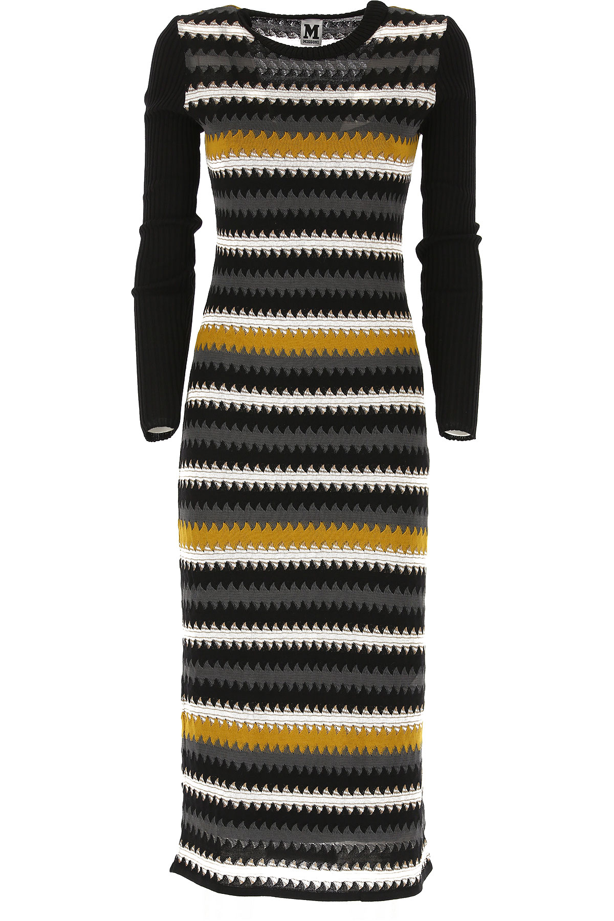 Missoni Dress for Women, Evening Cocktail Party On Sale, Black, Wool, 2019, 4 6 8