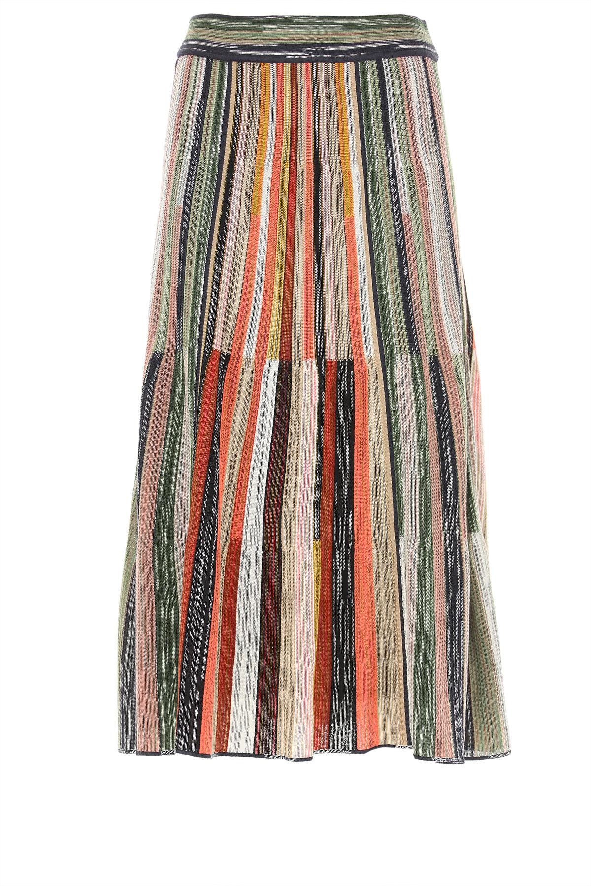 Missoni Skirt for Women On Sale, Multicolor, fleece wool, 2019, 26 28