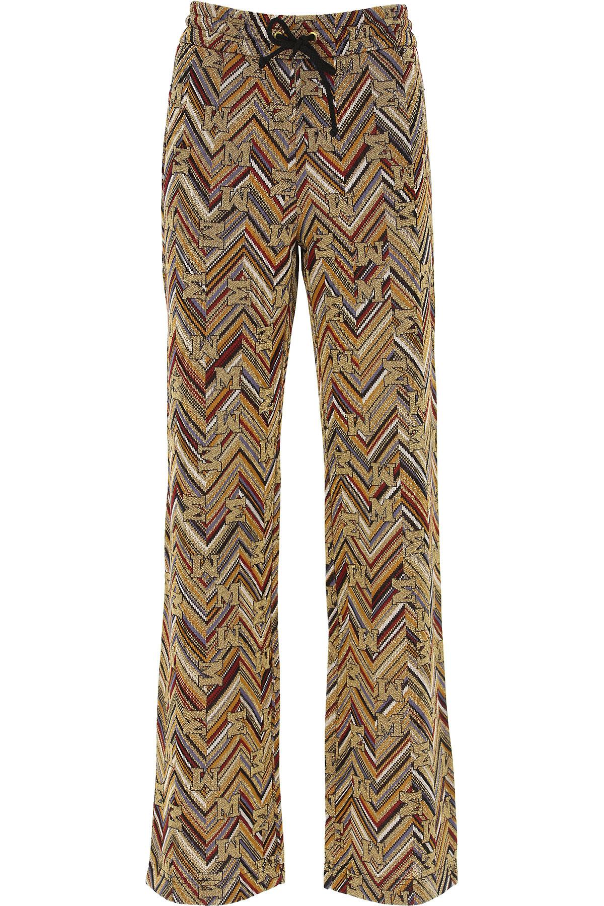 Missoni Pants for Women On Sale, Gold, Viscose, 2019, S (IT 40) M (IT 42 ) XS (IT 38)