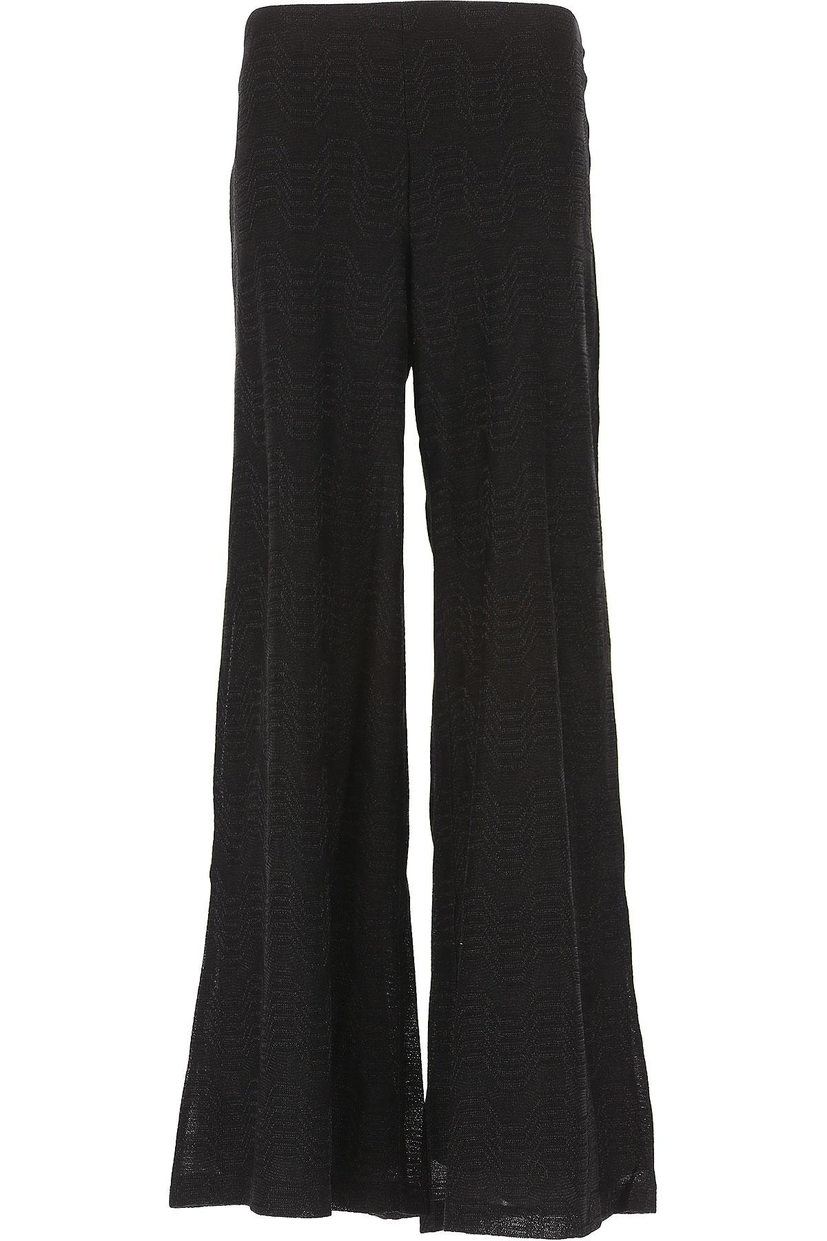 Missoni Pantalon Femme, Noir, Polyester, 2017, 40 42