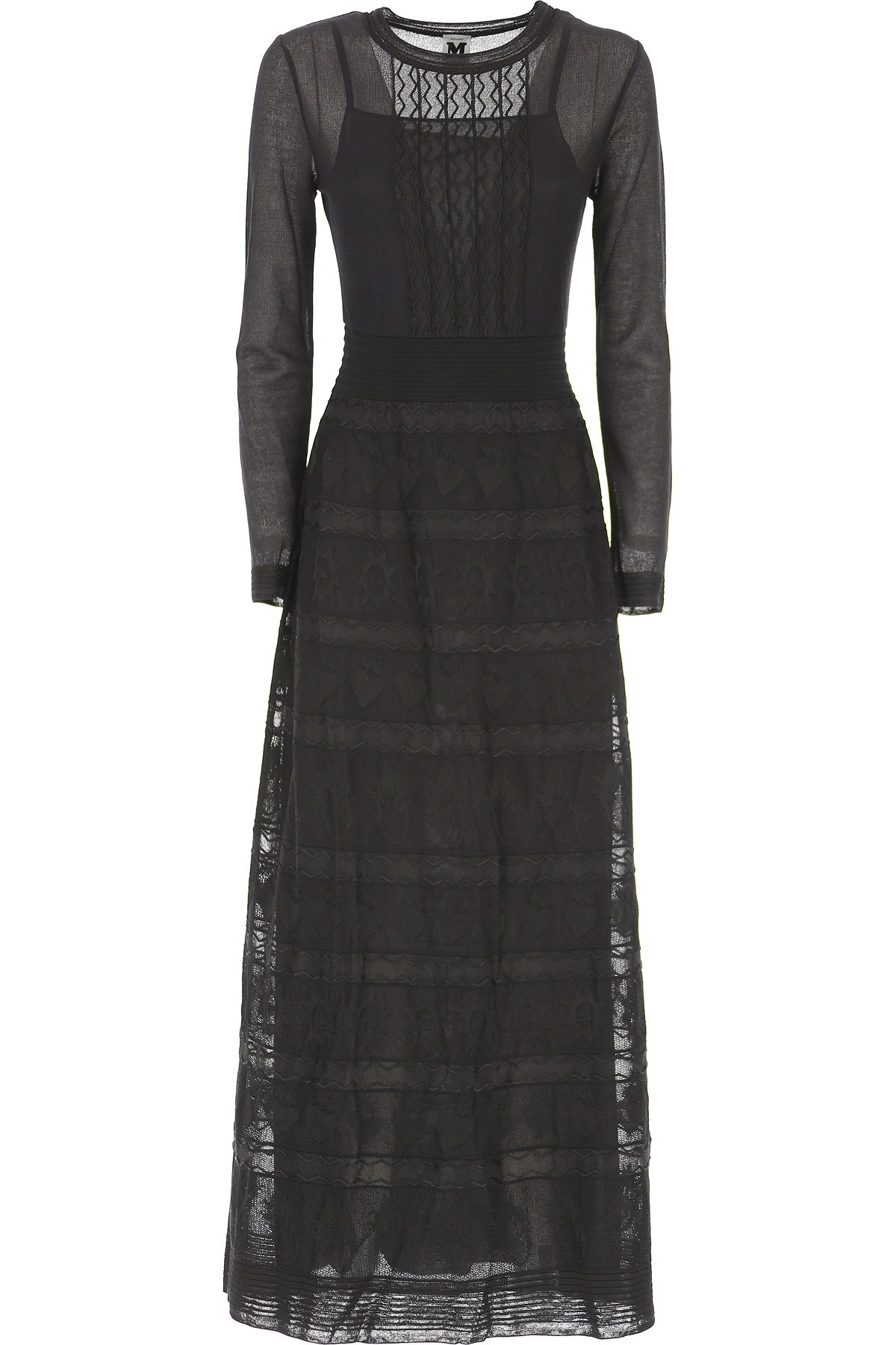Image of Missoni Dress for Women, Evening Cocktail Party, Black, Viscose, 2017, 4 6