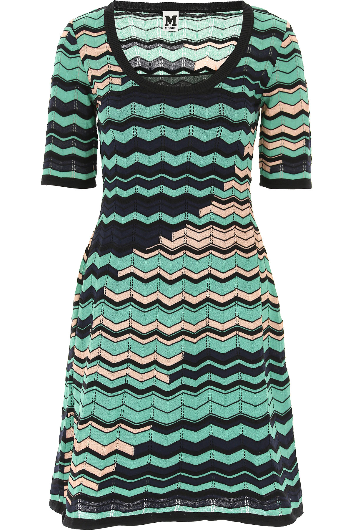 Image of Missoni Dress for Women, Evening Cocktail Party, Mint Green, Cotton, 2017, 4 6 8