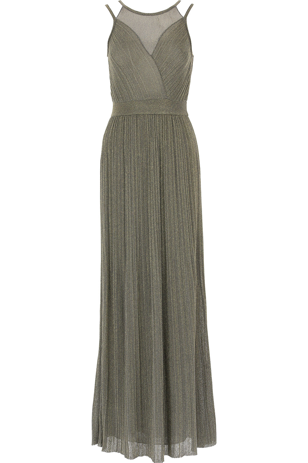 Image of Missoni Dress for Women, Evening Cocktail Party, Grey, Viscose, 2017, 4 6