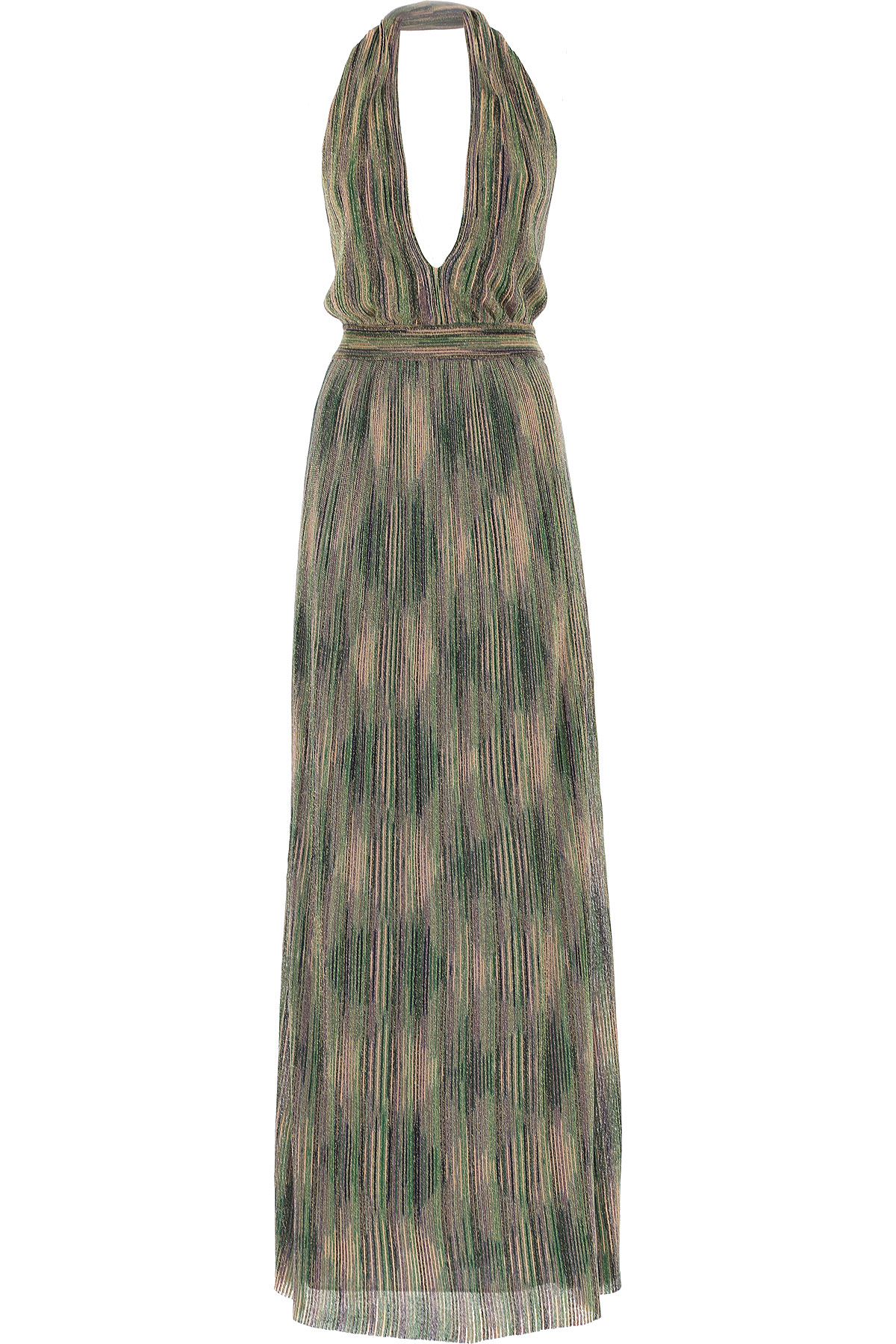 Image of Missoni Dress for Women, Evening Cocktail Party, Green, viscosa, 2017, 4 6