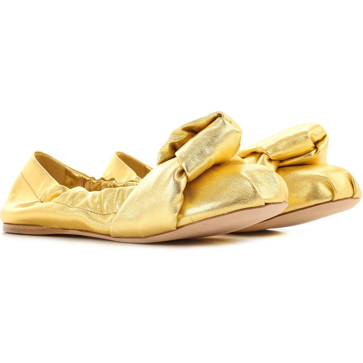 Miu Miu Ballet Flats Ballerina Shoes for Women, Metal Gold, Leather, 2019, 5.5 6 6.5 7 7.5 8 8.5 9