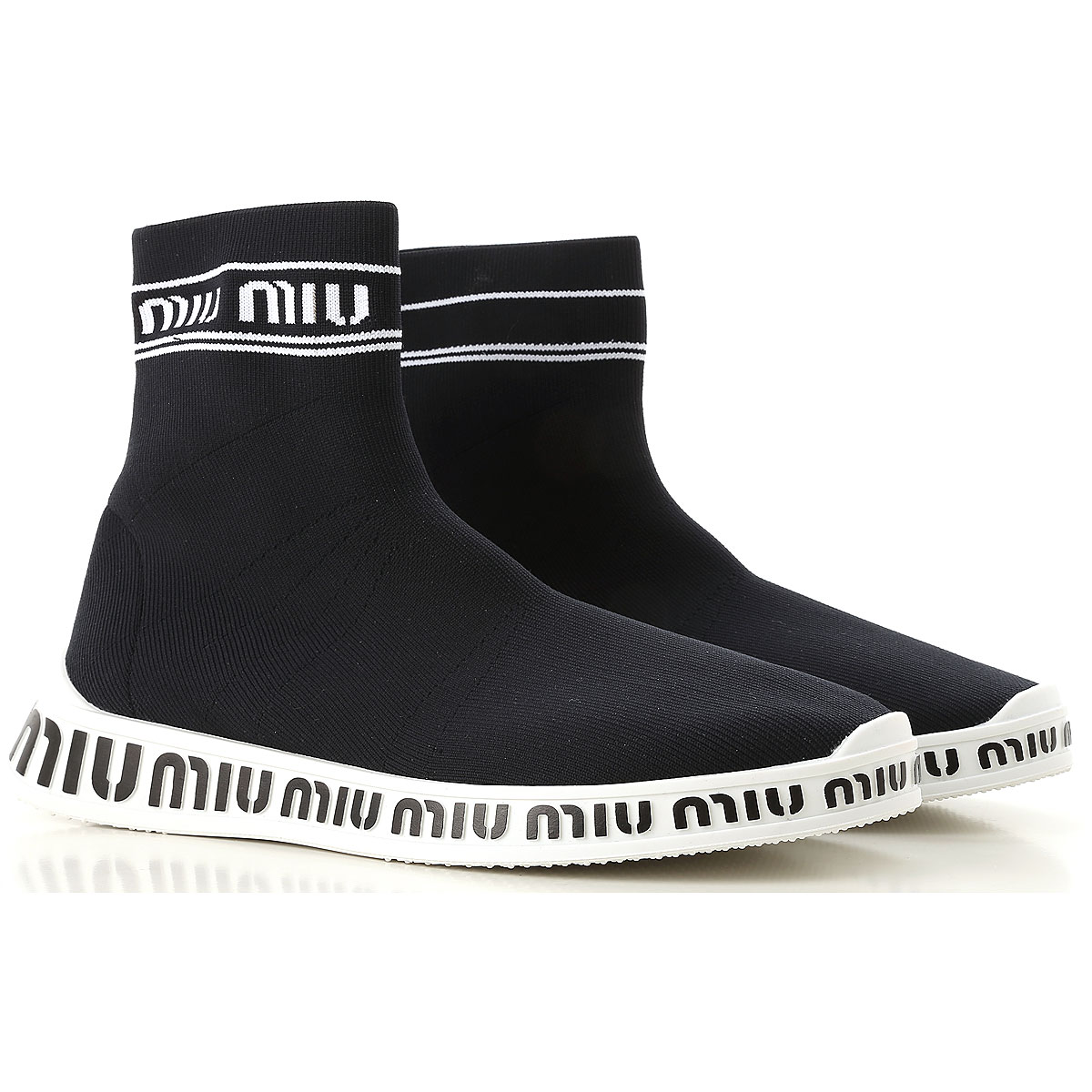 Image of Miu Miu Boots for Women, Booties, Black, Fabric, 2017, 10 6 7 8 8.5 9