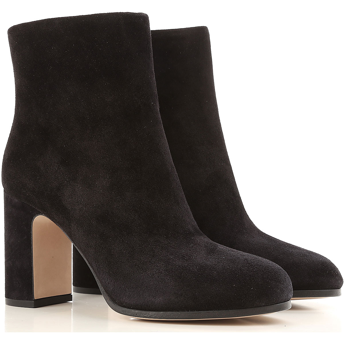 Image of Miu Miu Boots for Women, Booties On Sale in Outlet, Black, Eco Suede leather, 2017, 5 7.5