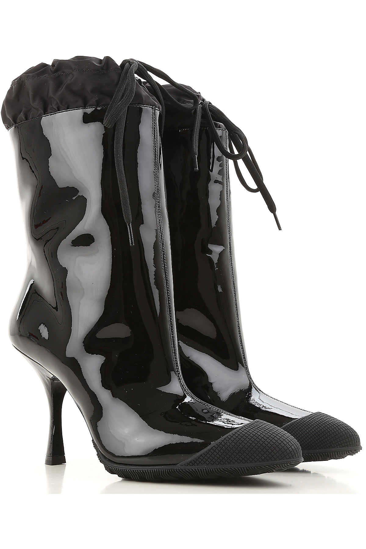 Miu Miu Boots for Women, Booties On Sale in Outlet, Black, Patent, 2019, 10 11 8