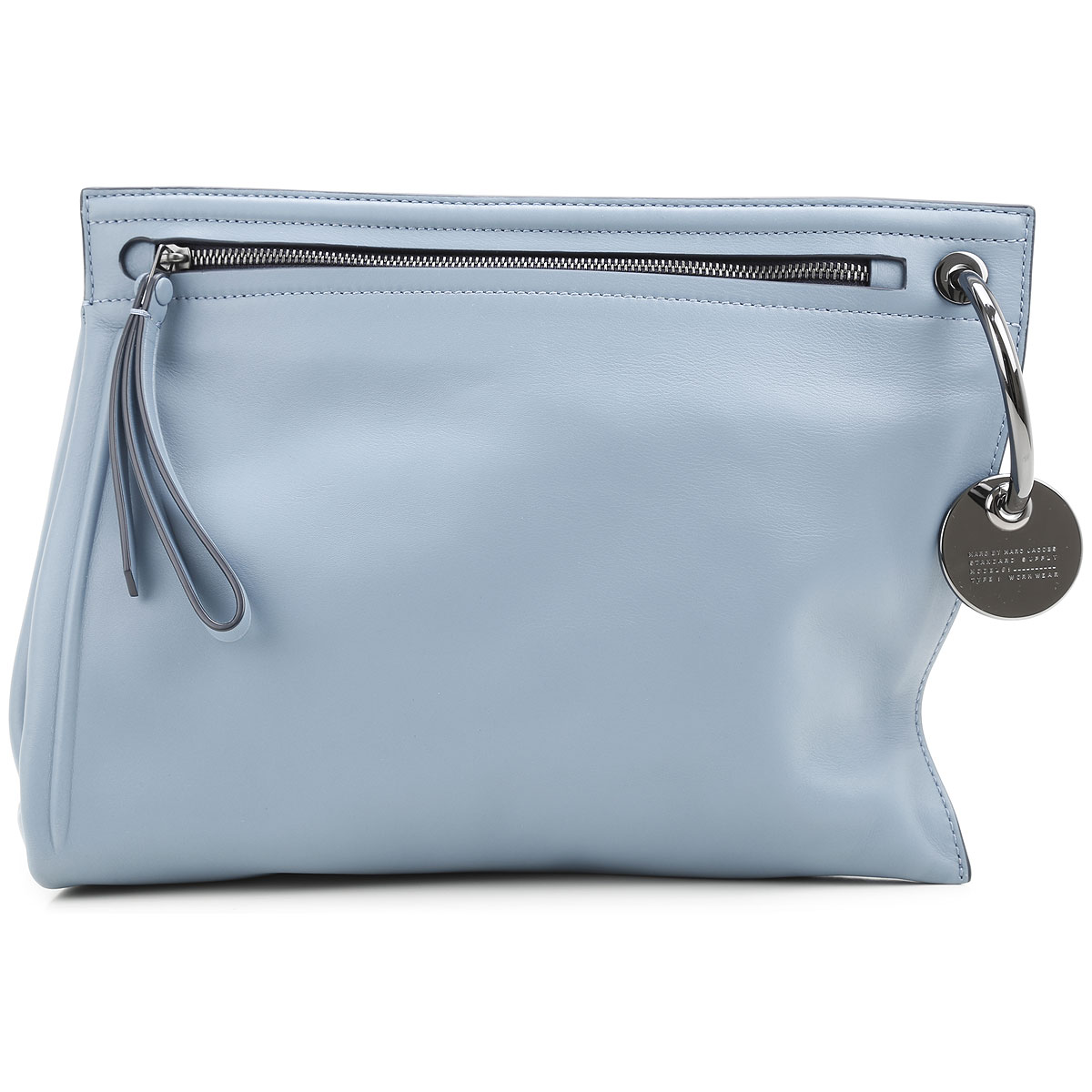 Marc Jacobs Clutch Bag On Sale, Azure, Leather, 2019
