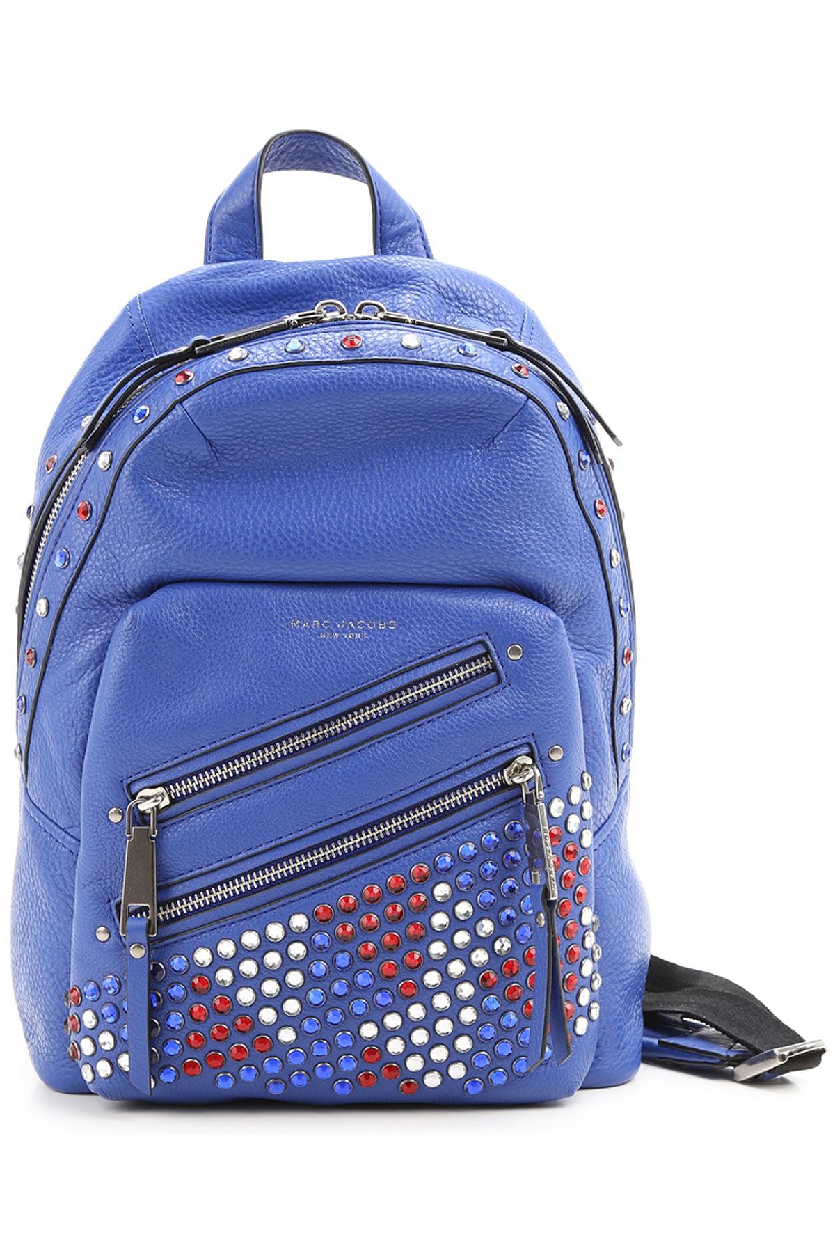 Marc Jacobs Backpack for Women, Blue, Leather, 2017 USA-362742