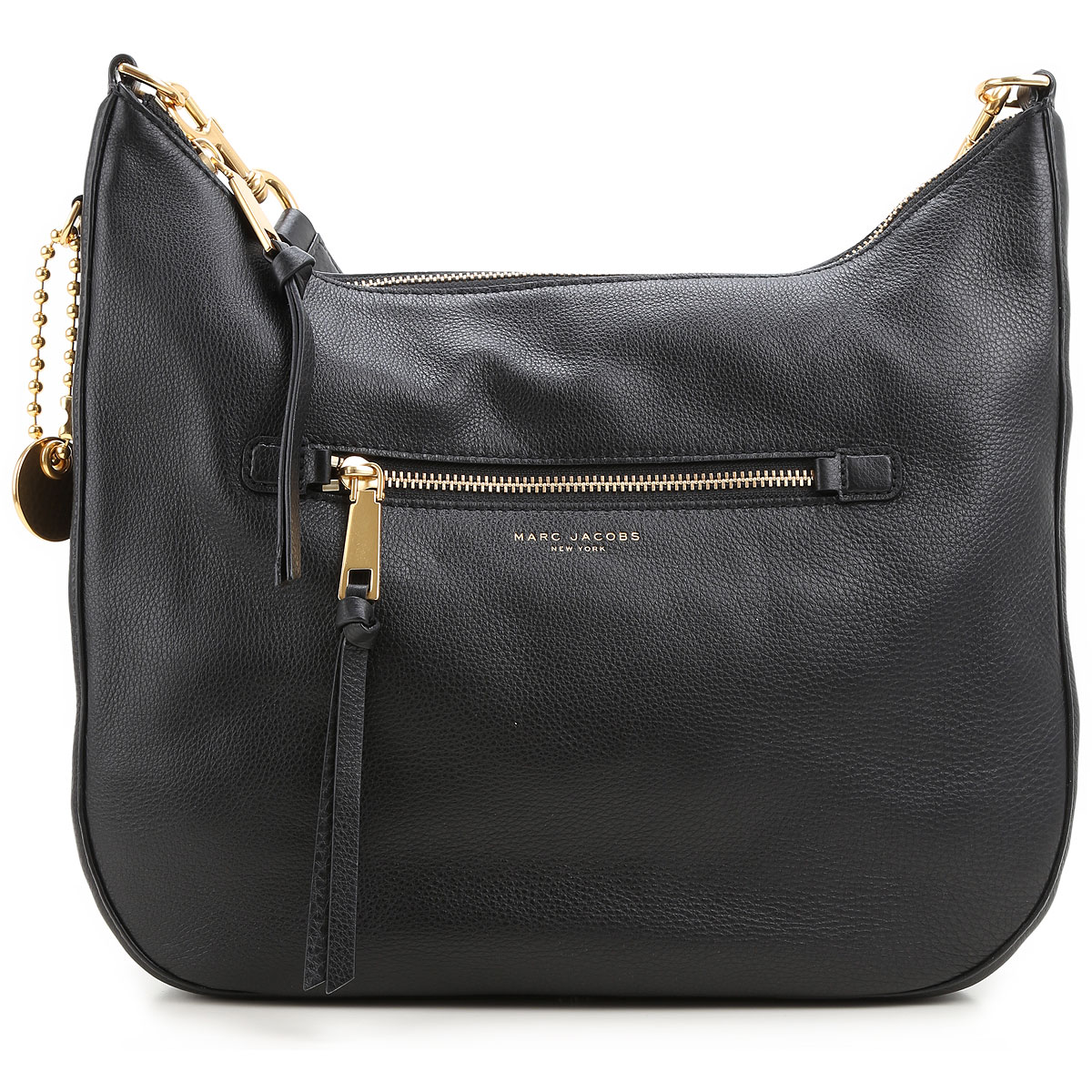 Marc Jacobs Tote Bag, Black, Leather, 2017 USA-367537