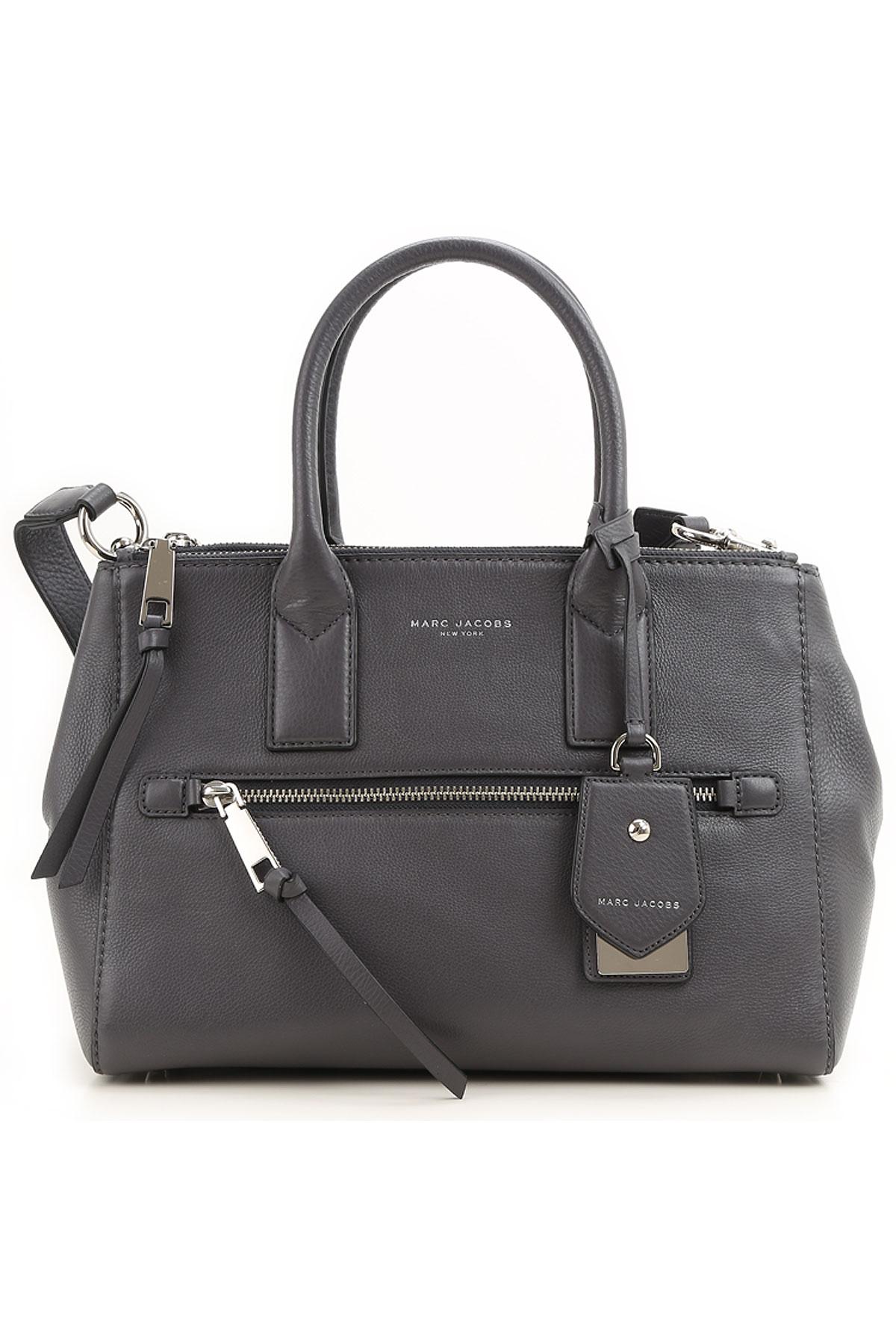 Marc Jacobs Tote Bag, Dark Grey, Leather, 2017