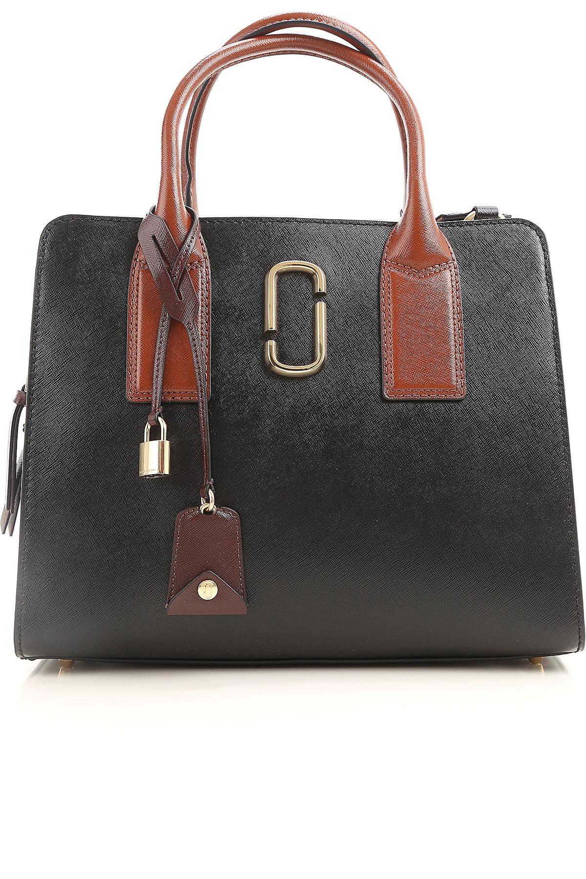 Marc Jacobs Top Handle Handbag On Sale, Black, Leather, 2017 USA-426173