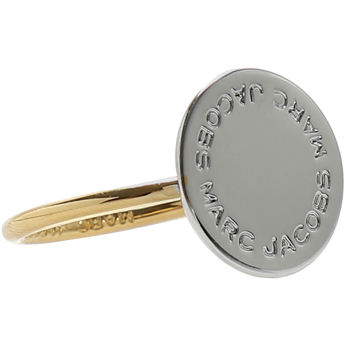 Marc Jacobs Ring for Women On Sale, Gold, Stainless Steel, 2019, Small Medium Large