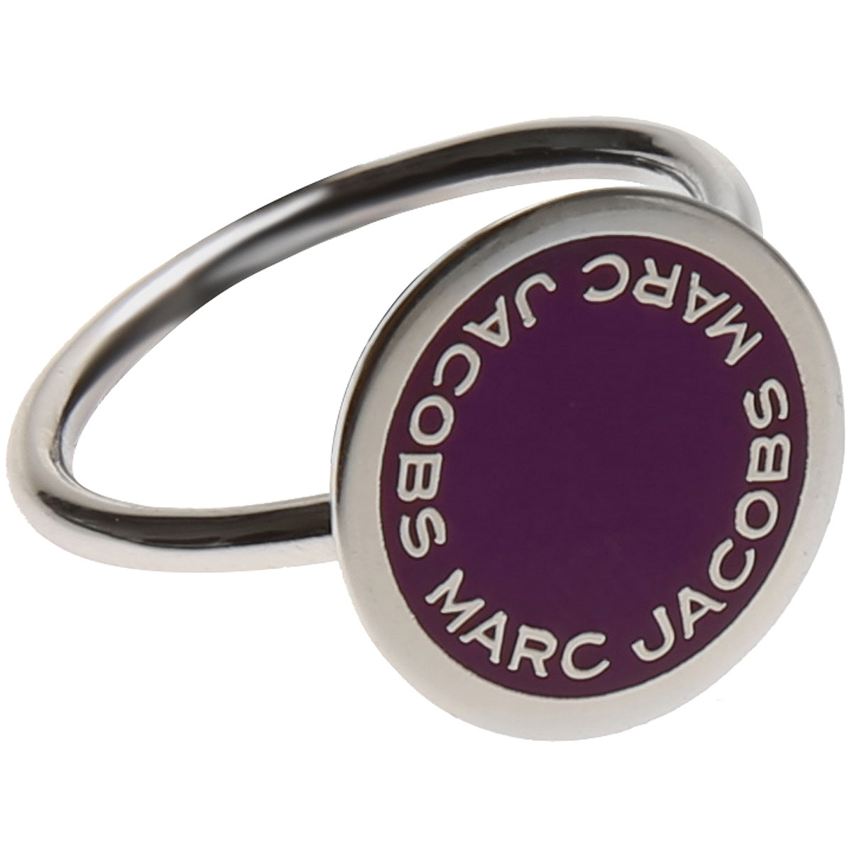 Marc Jacobs Ring for Women On Sale, Violet, Stainless Steel, 2019, Small Medium Large