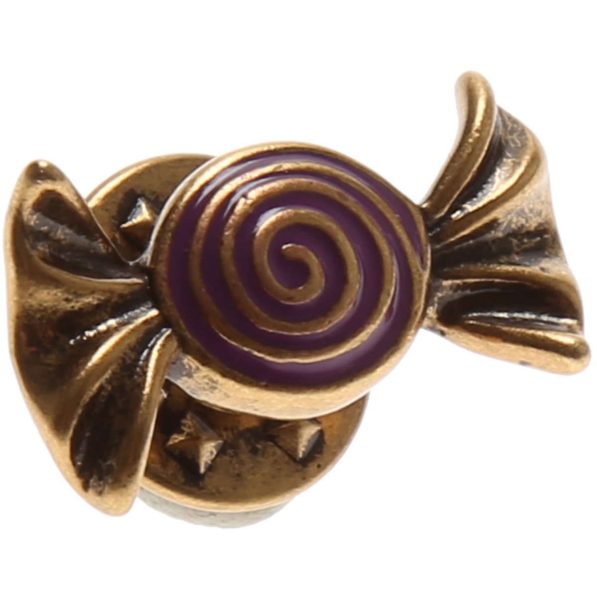 Image of Marc Jacobs Brooch and Pin for Women, Antique Gold, Stainless Steel, 2017