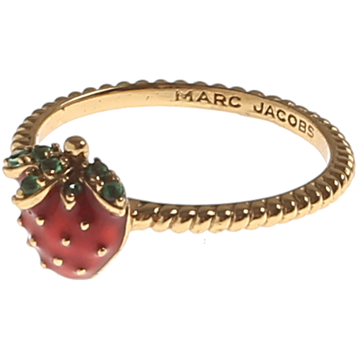 Marc Jacobs Ring for Women On Sale, Gold, Brass, 2019, Small Medium