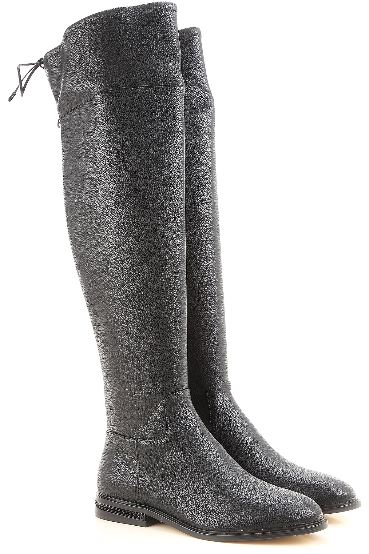 Michael Kors Boots for Women, Booties On Sale, Black, Leather, 2017, 3.5