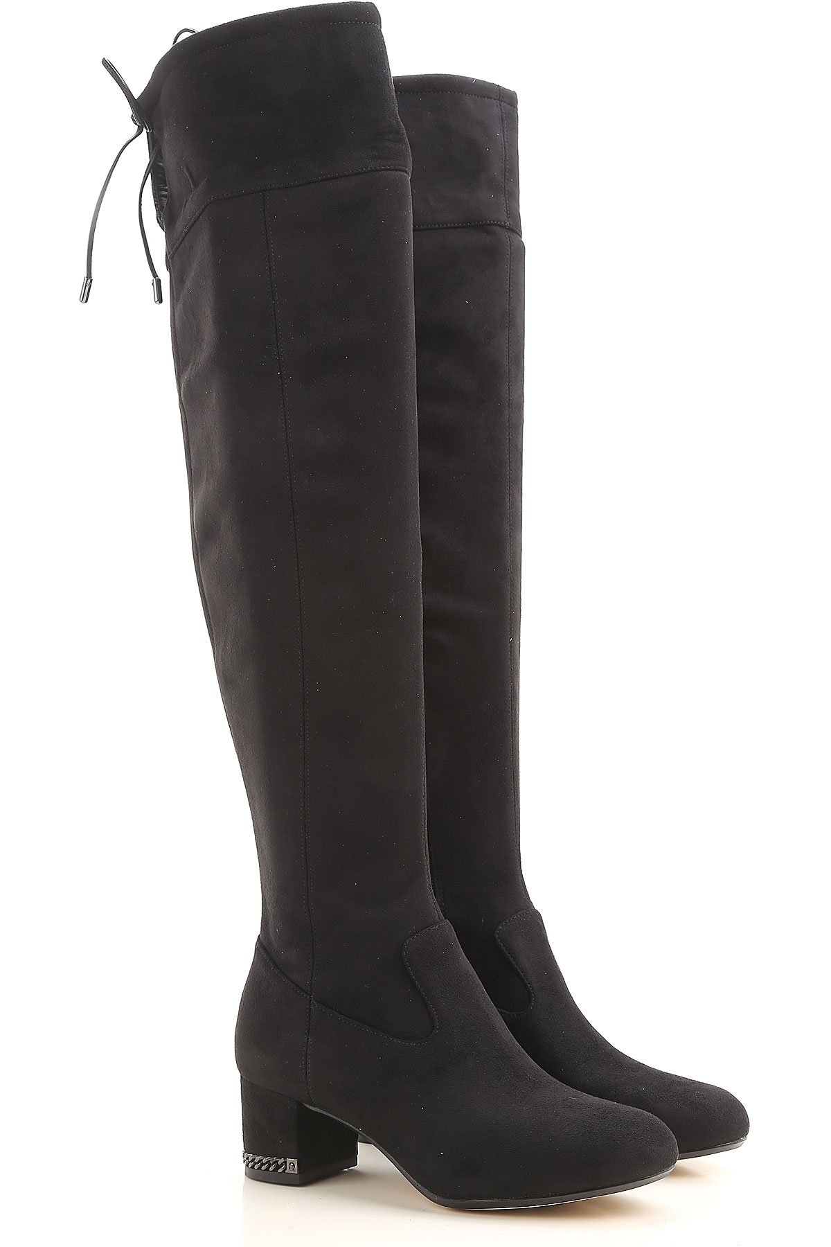Michael Kors Boots for Women, Booties On Sale in Outlet, Black, Suede leather, 2019, 6