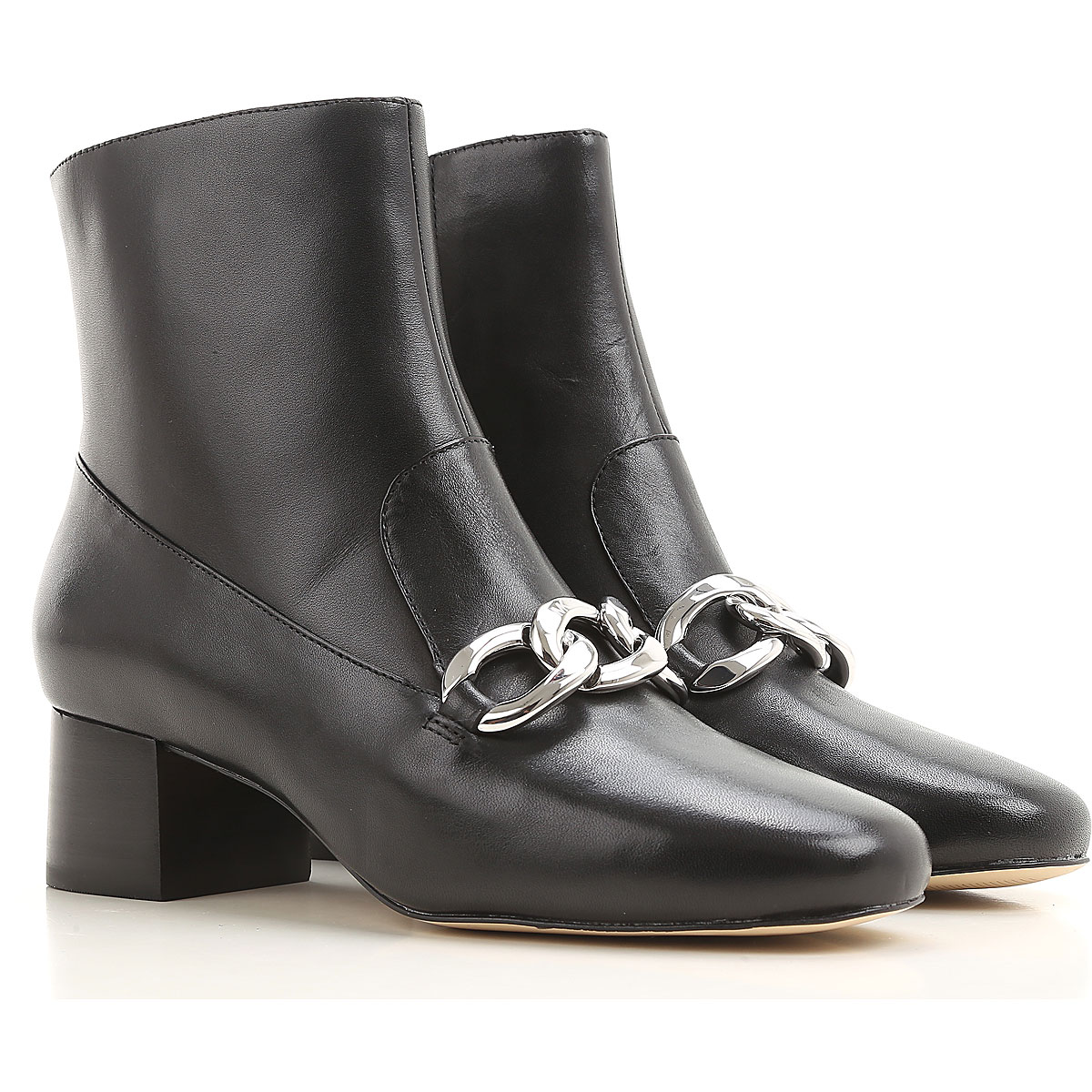 Michael Kors Boots for Women, Booties On Sale in Outlet, Black, Leather, 2019, 6.5 7