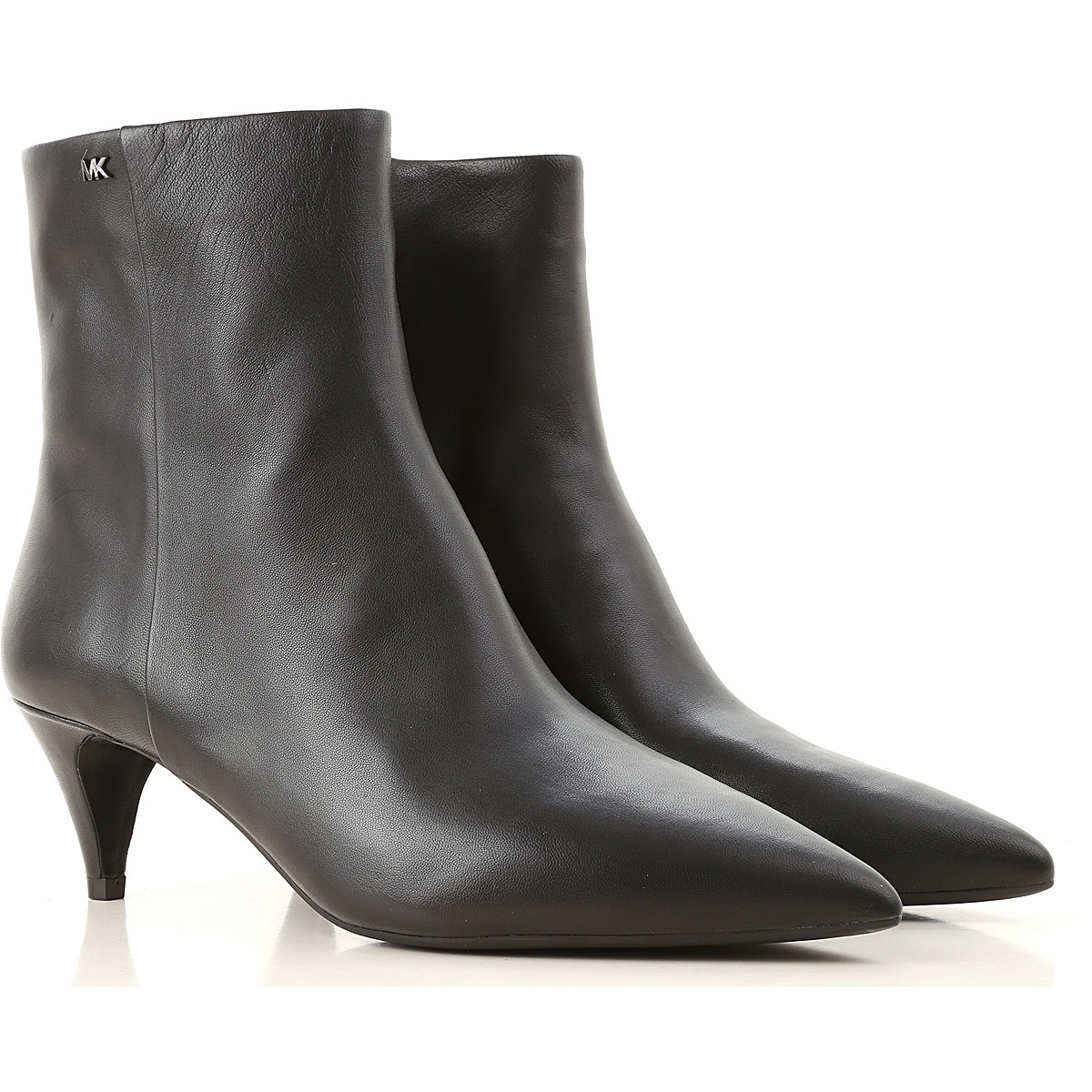 Michael Kors Boots for Women, Booties On Sale in Outlet, Black, Leather, 2019, 6 9